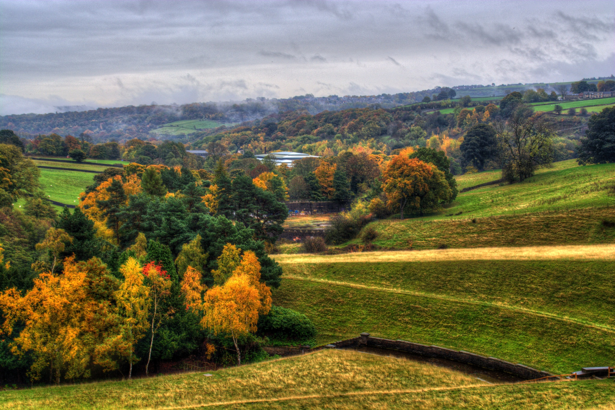 misty countryside morning sheffield by Stuart Robertshaw Photography