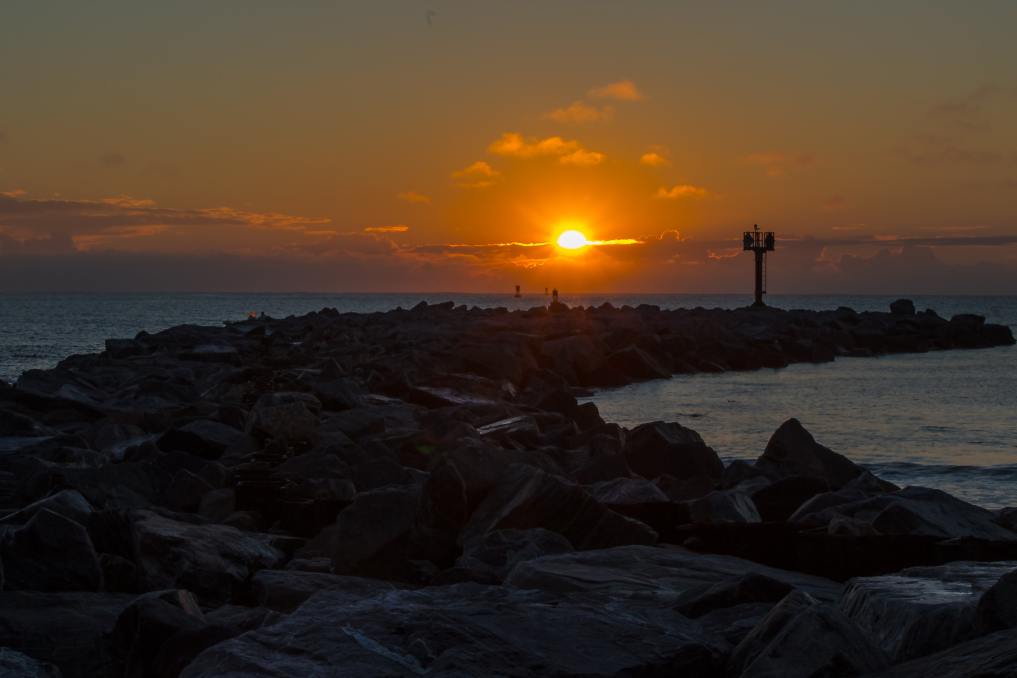 Sunrise Over the Jetty by Barry Melamed