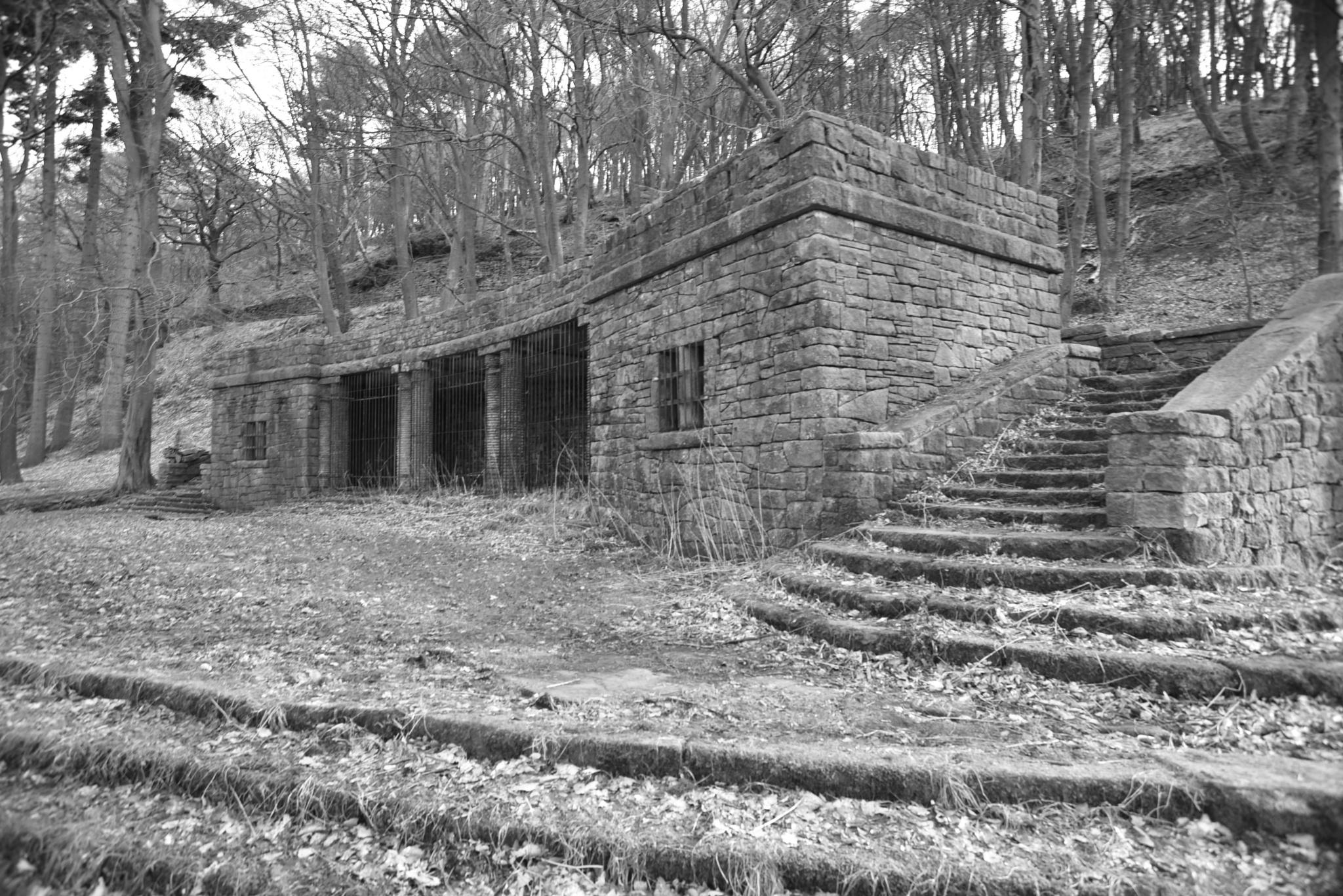 The ruin in  an old garden. by juliehatt123