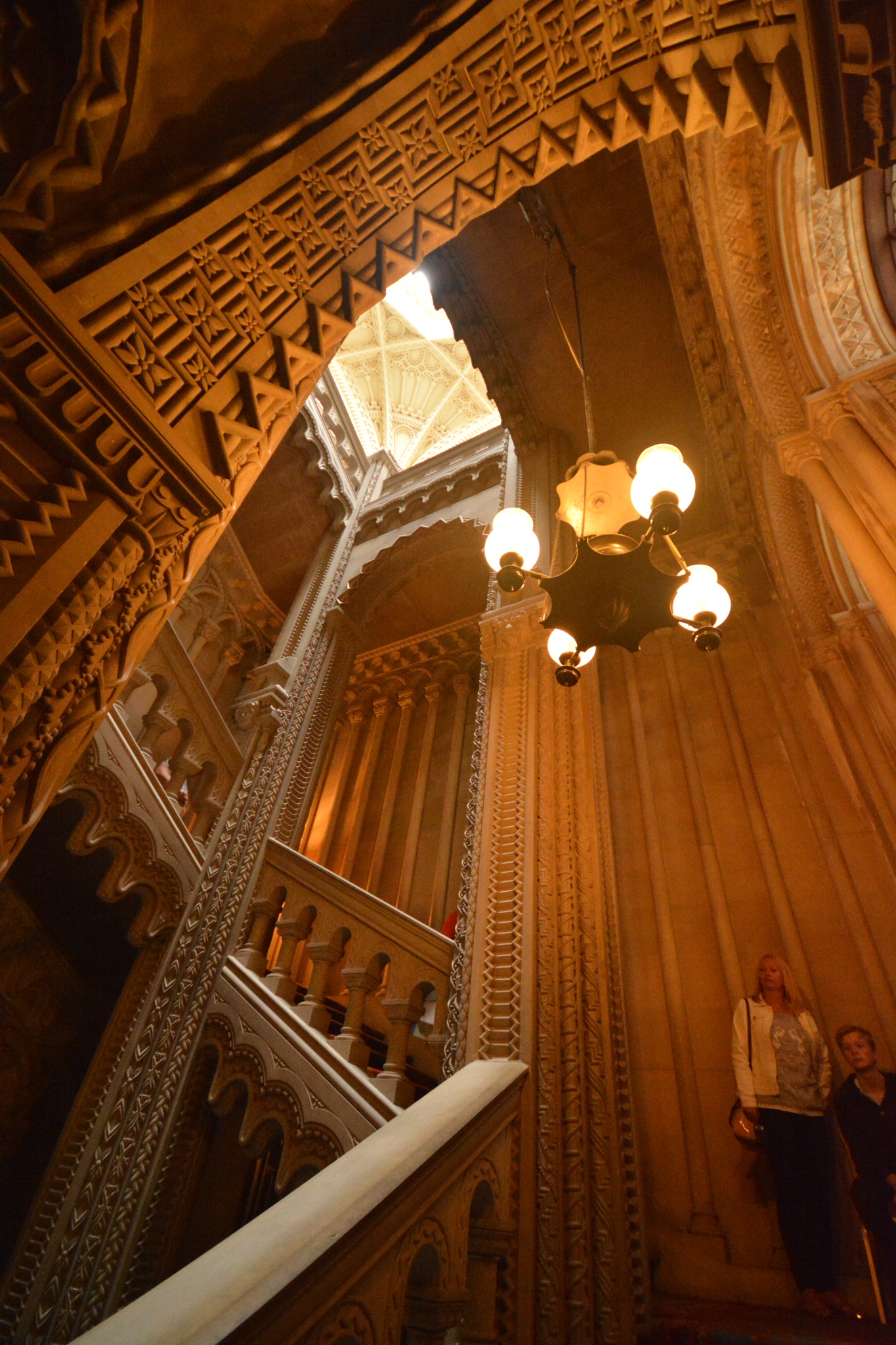The grand  carved  staircase. by juliehatt123