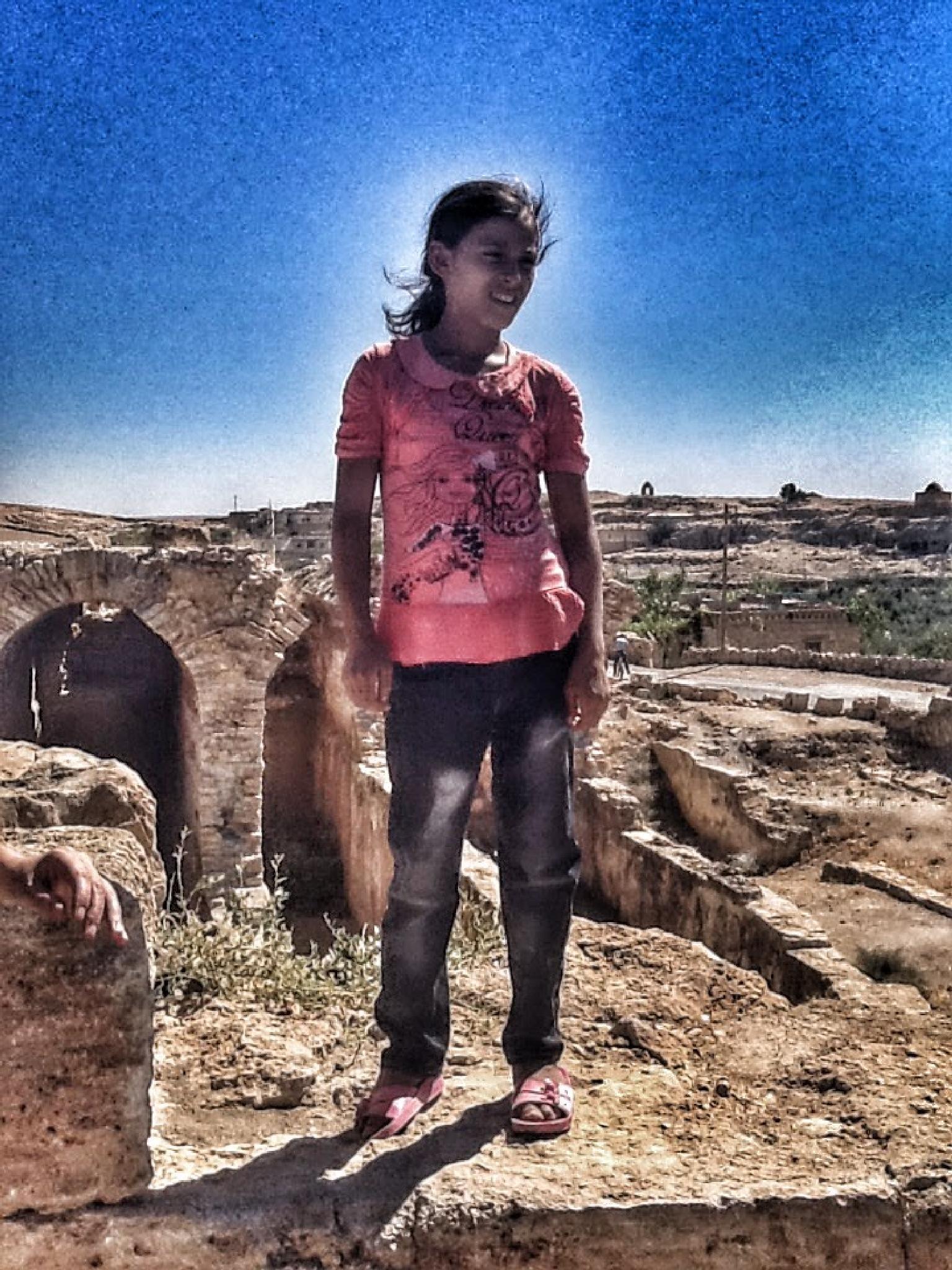 Girl in Dara(Mesopotamia) by Meriç Aksu