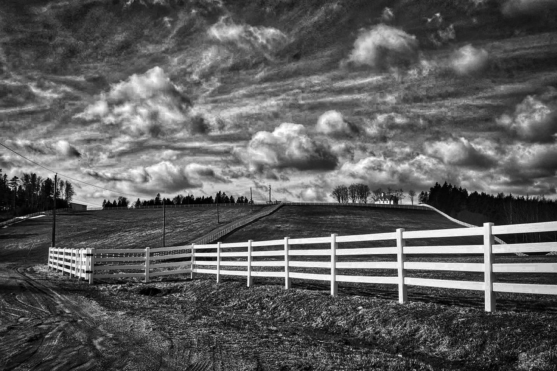 Long White Fence by Wayne L. Talbot
