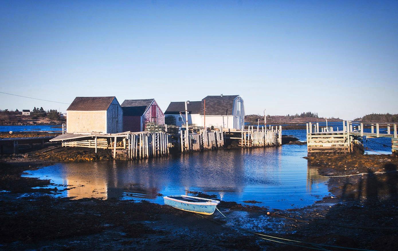 A Row of Fishing Shacks by Wayne L. Talbot