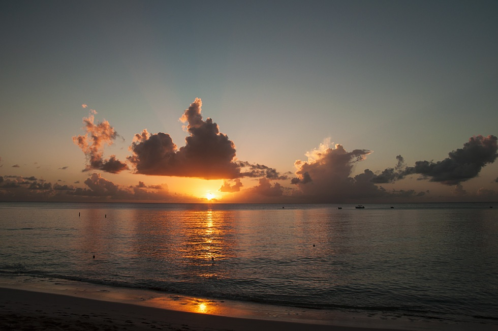 Brilliant Barbados Sunset by Wayne L. Talbot