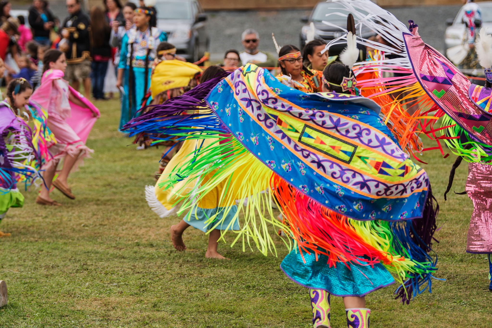 The Brilliant Colours of a PowWow by Wayne L. Talbot