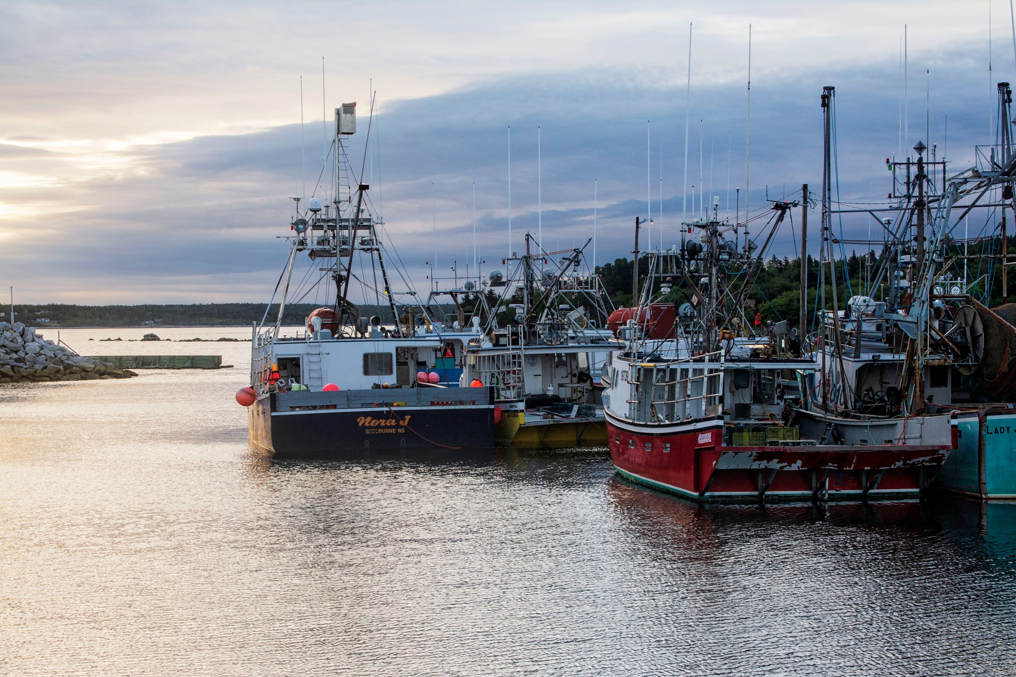 Lobster Boats by Wayne L. Talbot