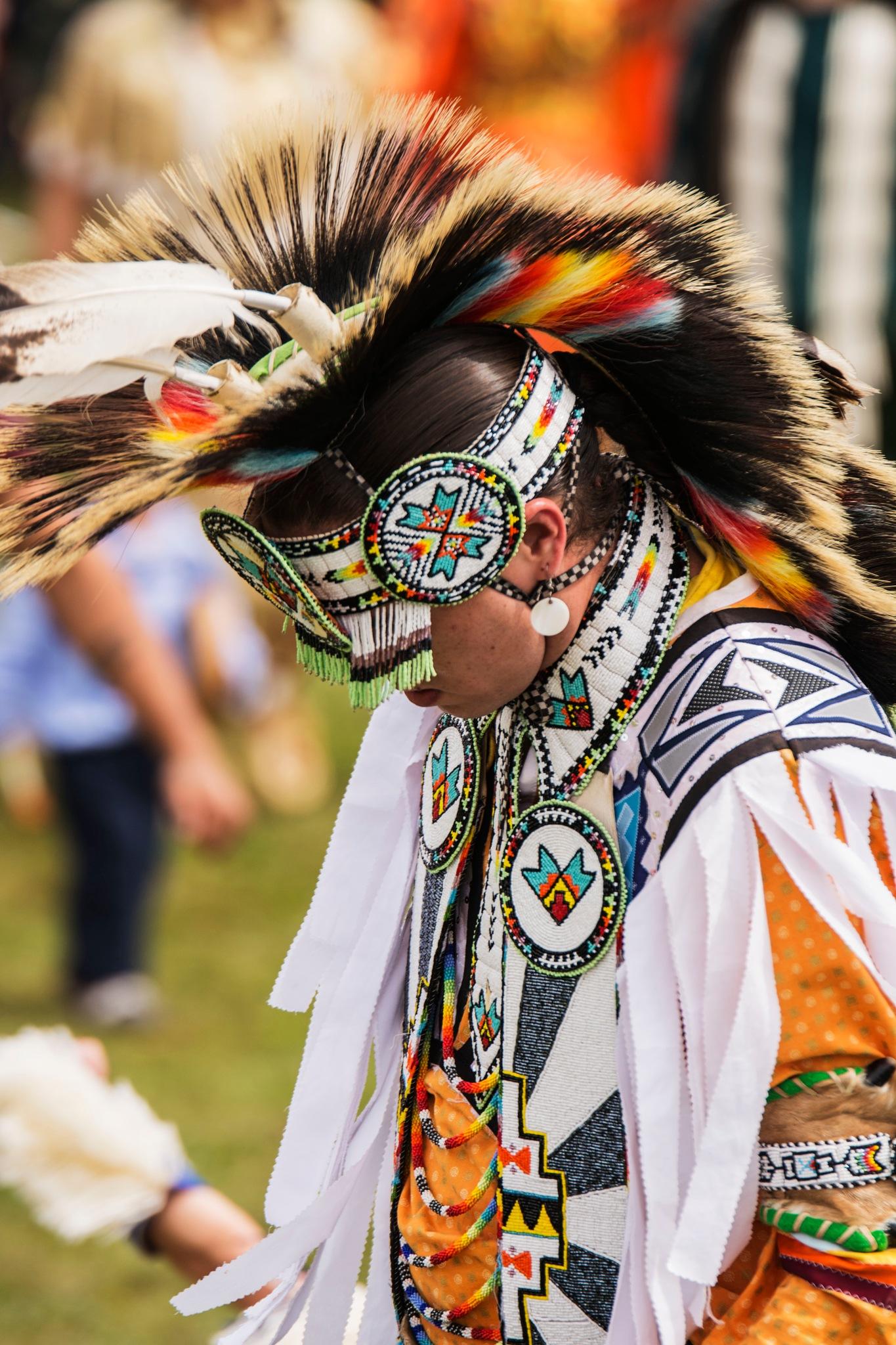 Head Male Dancer, Millbrook First Nation PowWow 2017 by Wayne L. Talbot