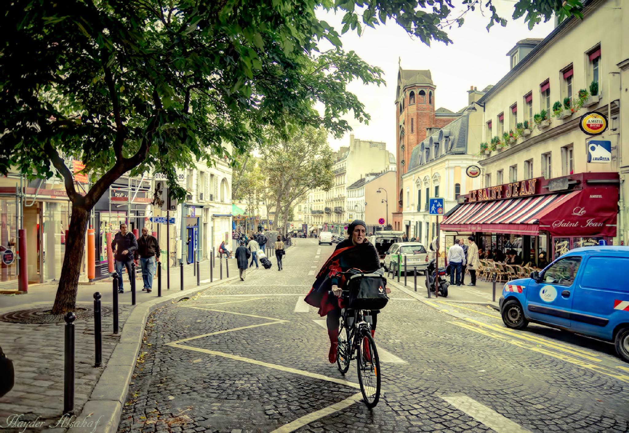 Parisian street by Hayder Alsahaf