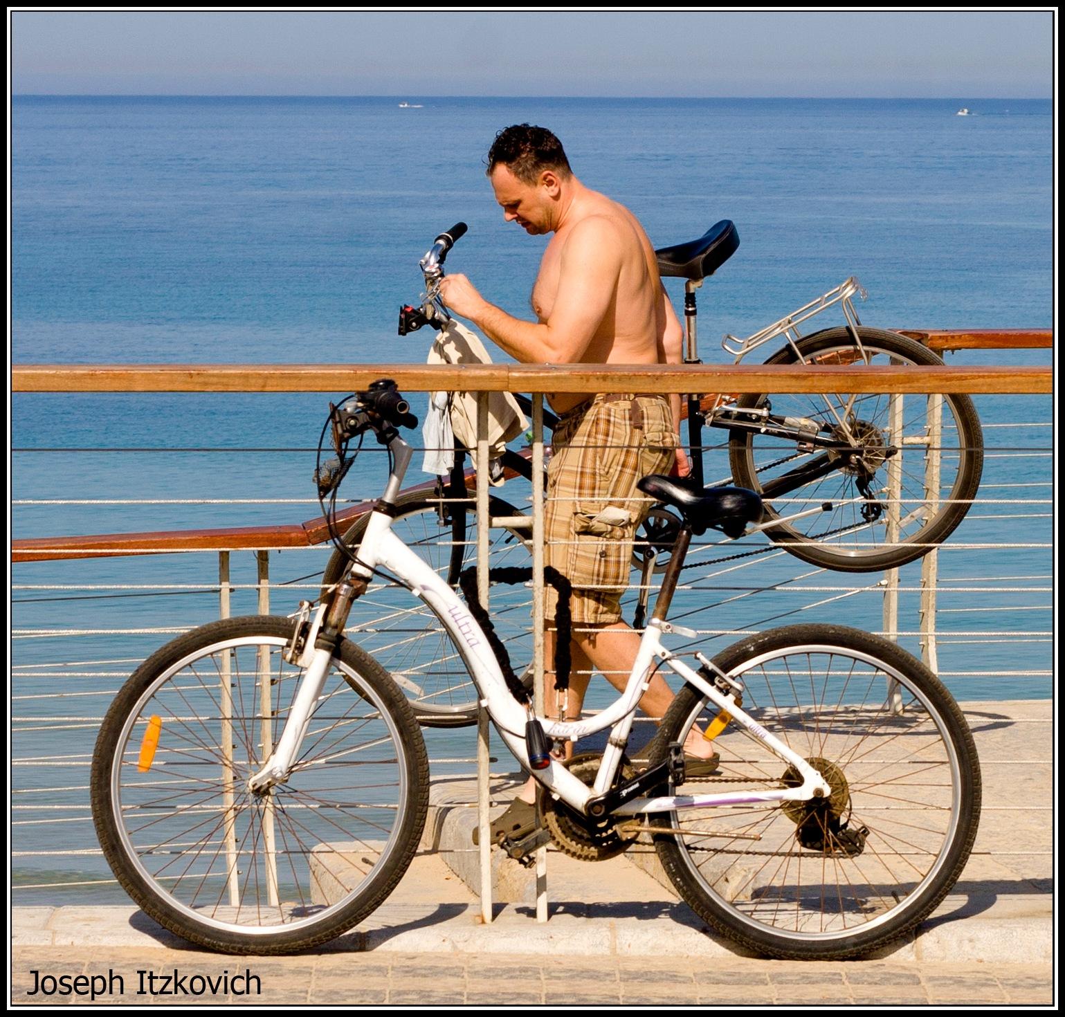 At the beach 1 by  Itzkovich  Joseph