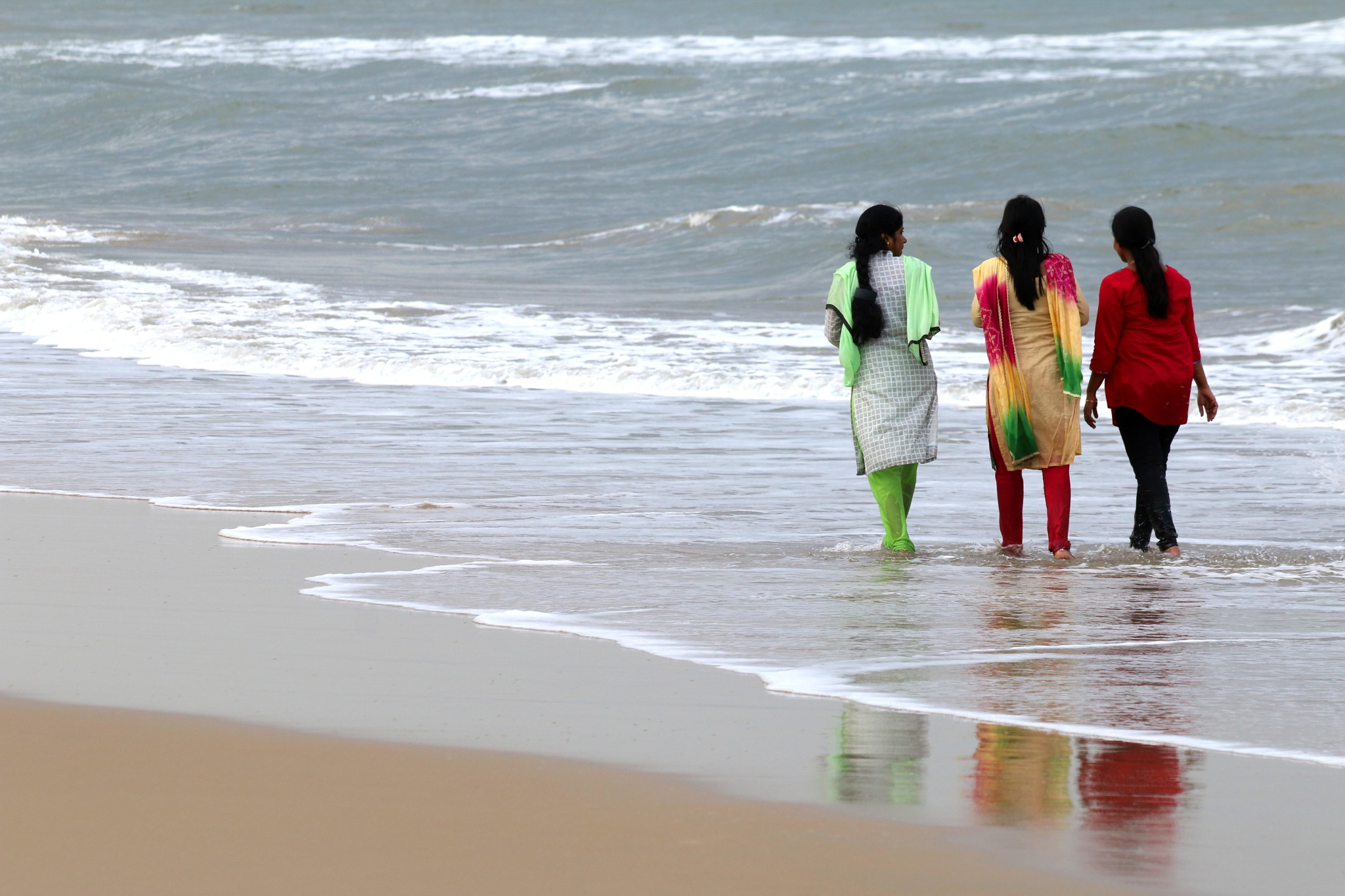 Chennai beach -India  # 9 by  Itzkovich  Joseph