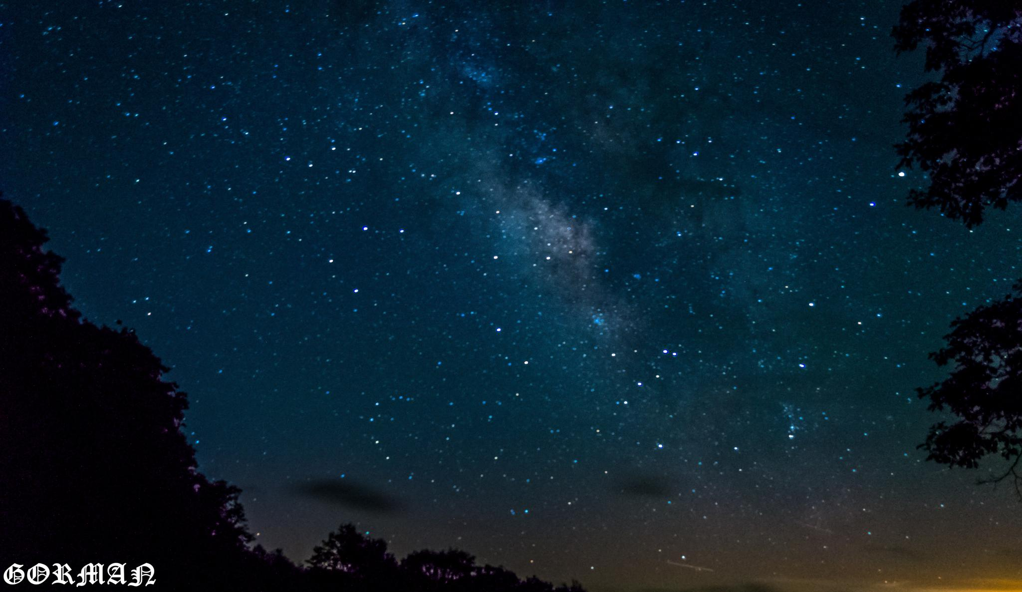 First try at the milky way by James Gorman