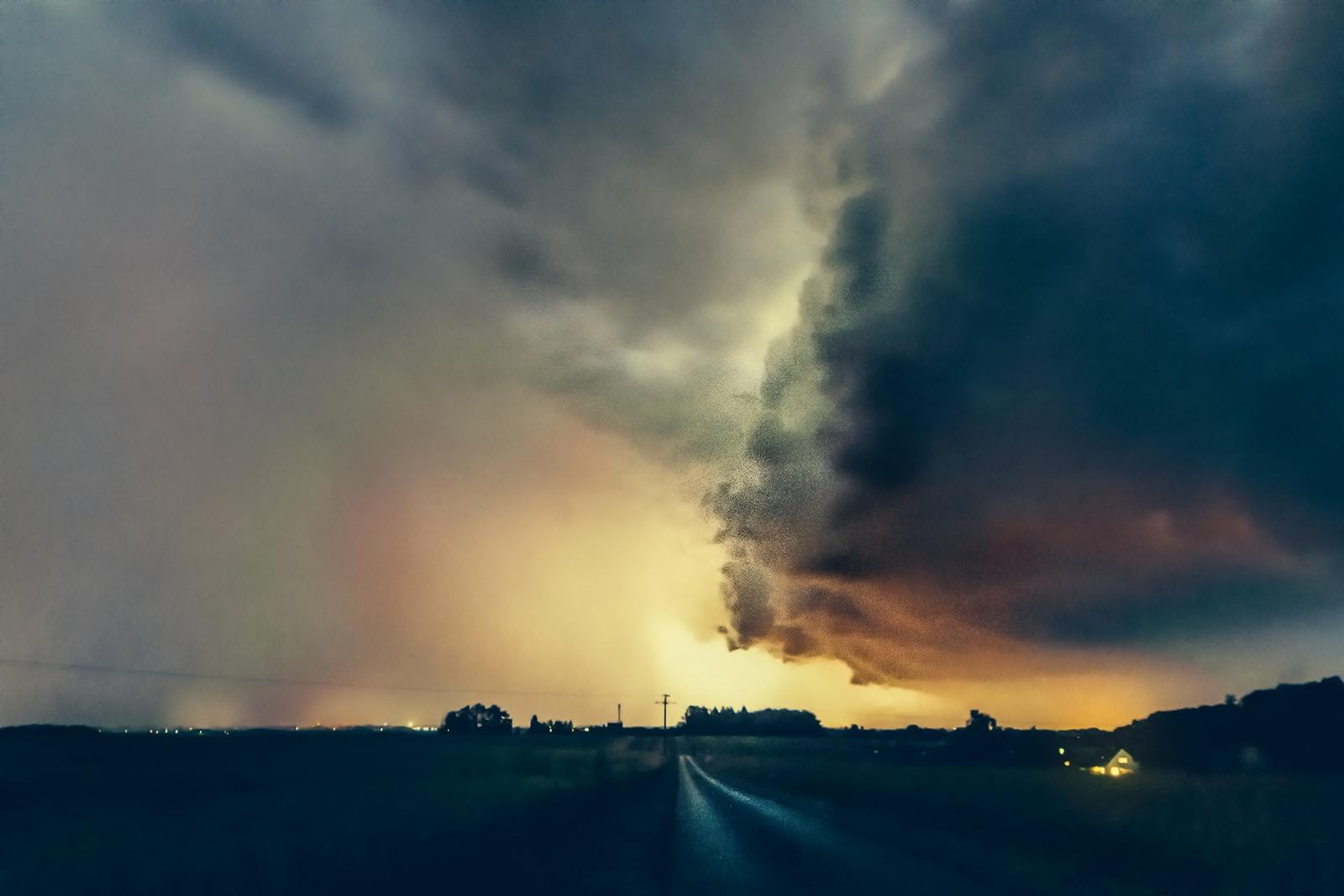 Photo in Landscape #storm #wind #leichlingen #nrw #germany #tornado #clouds #rain #night