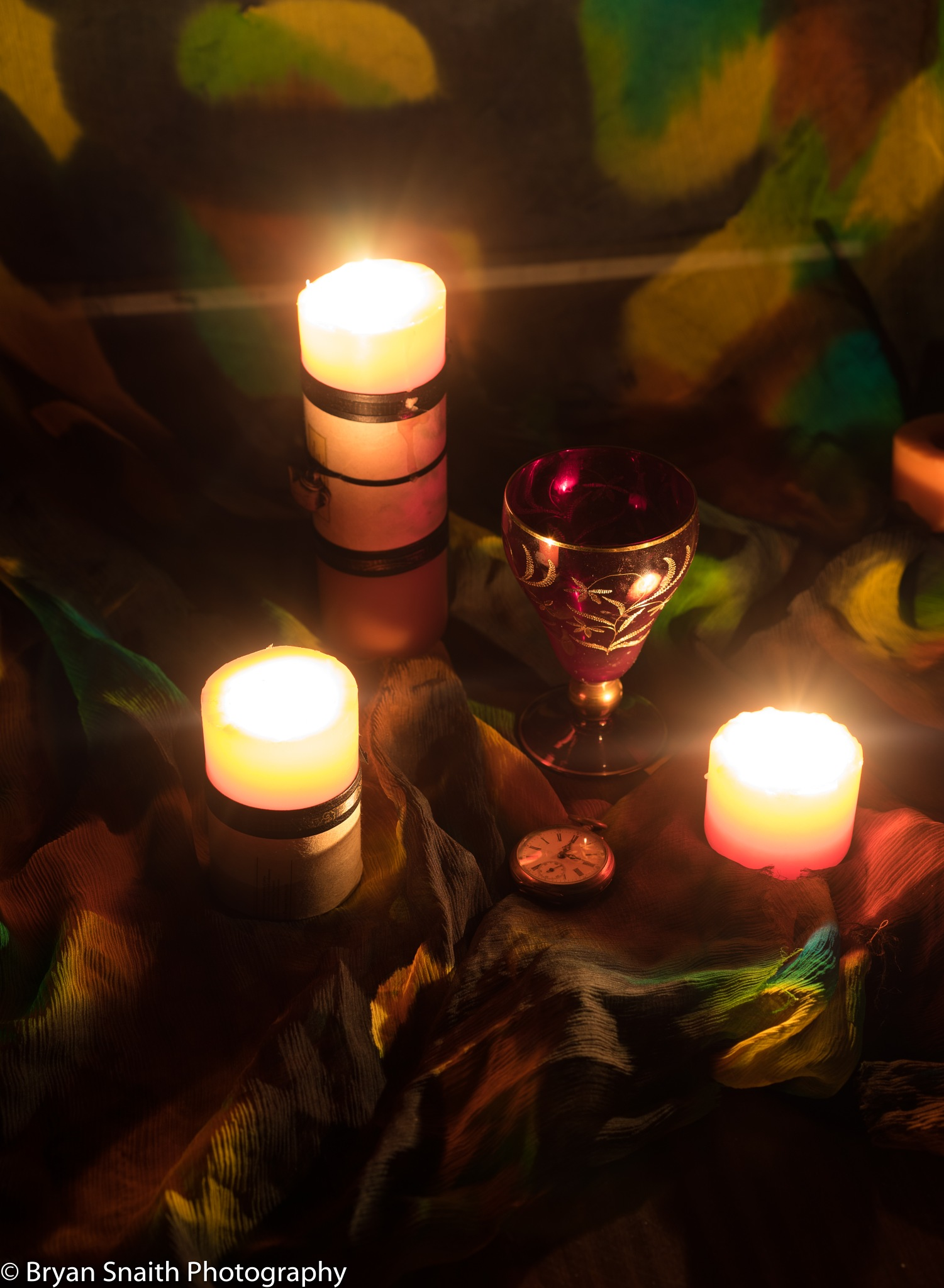 Glass candles by Bryan Snaith Photography NZ