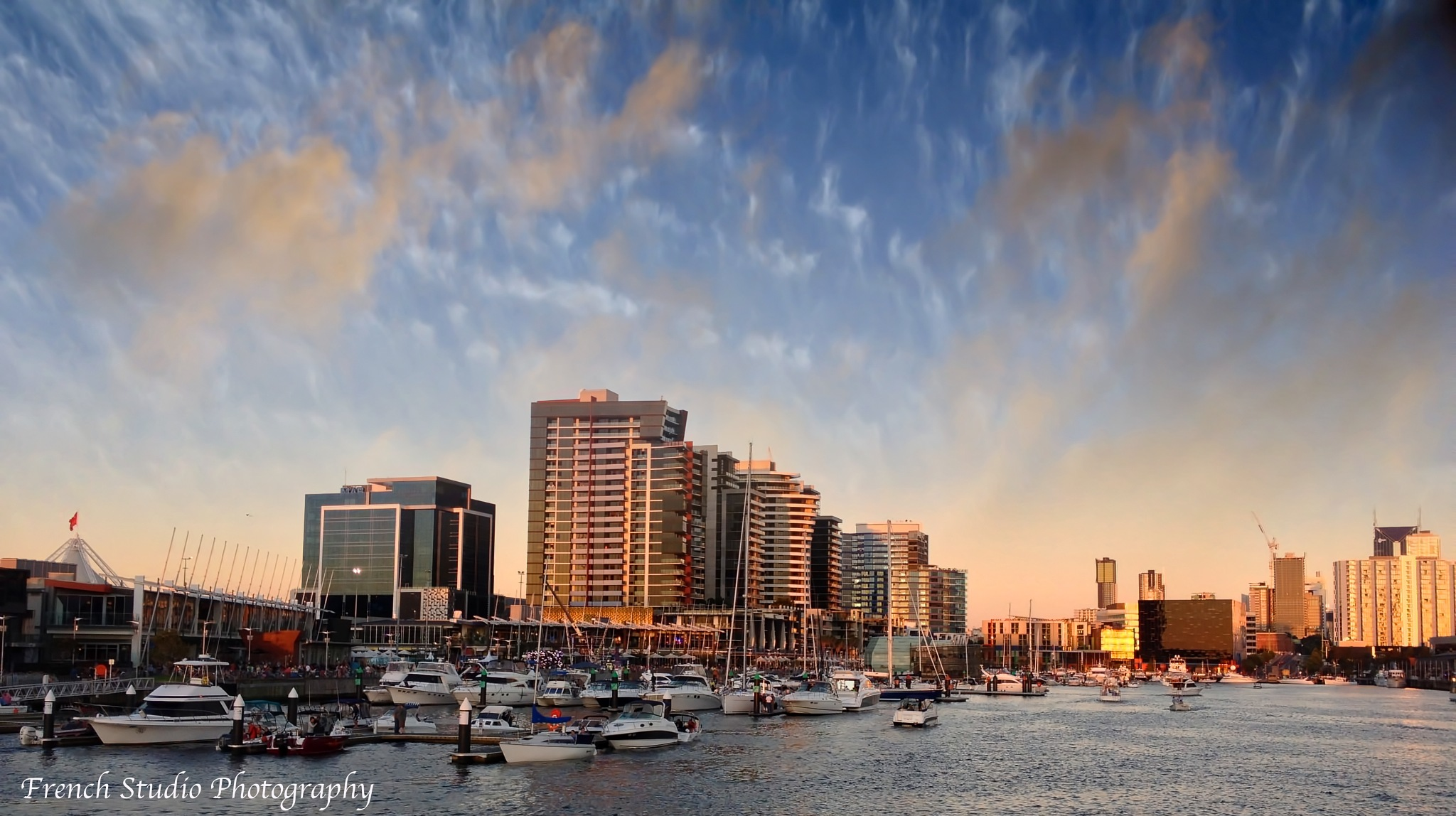 At sunset in Dockland by gerardrotse