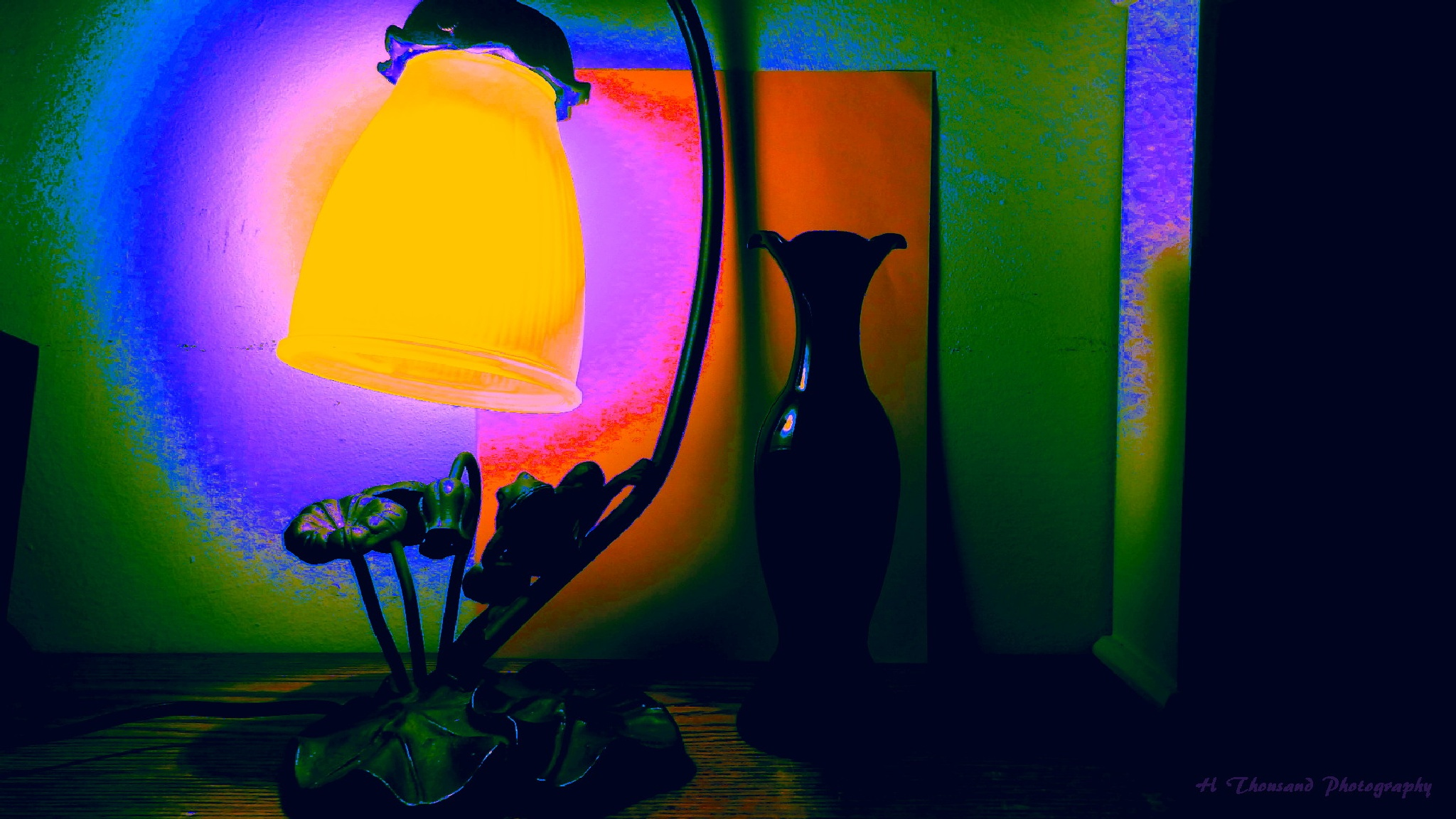 Frog Lamp and Vase by hrthousandjr