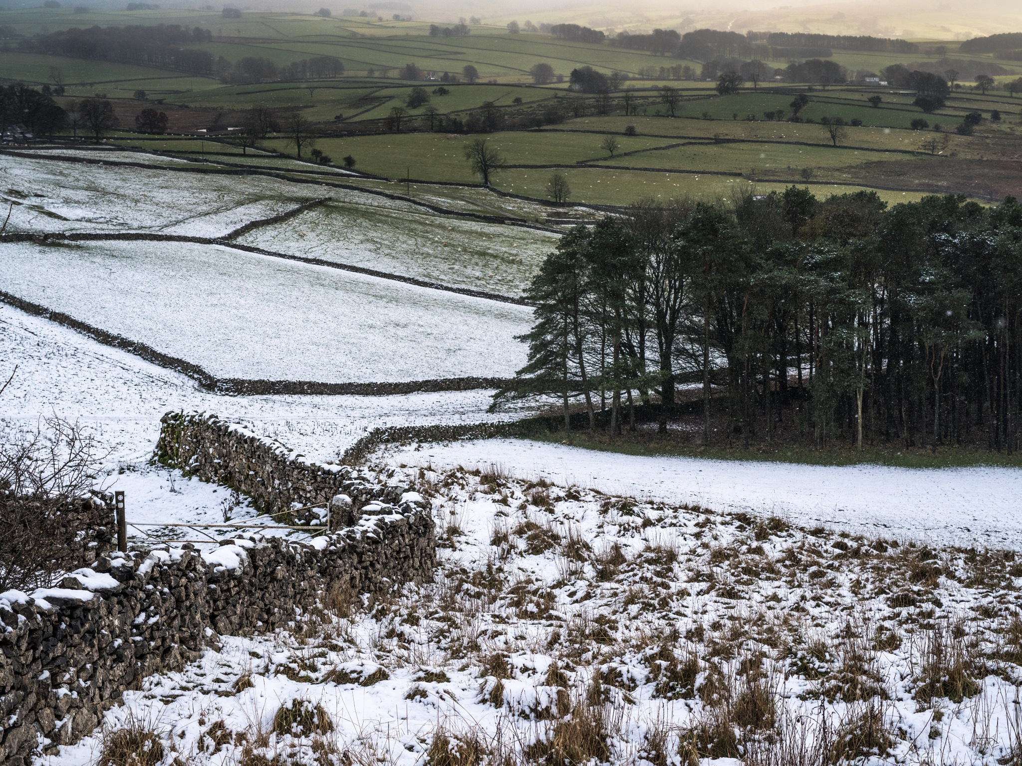 on the edge of the hills in winter by hutchst