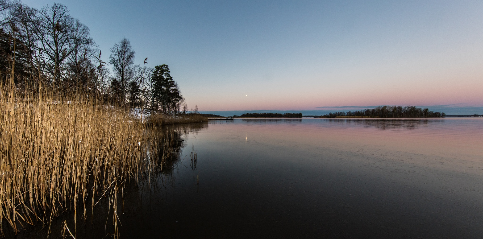 winter evening, Sweden by hutchst