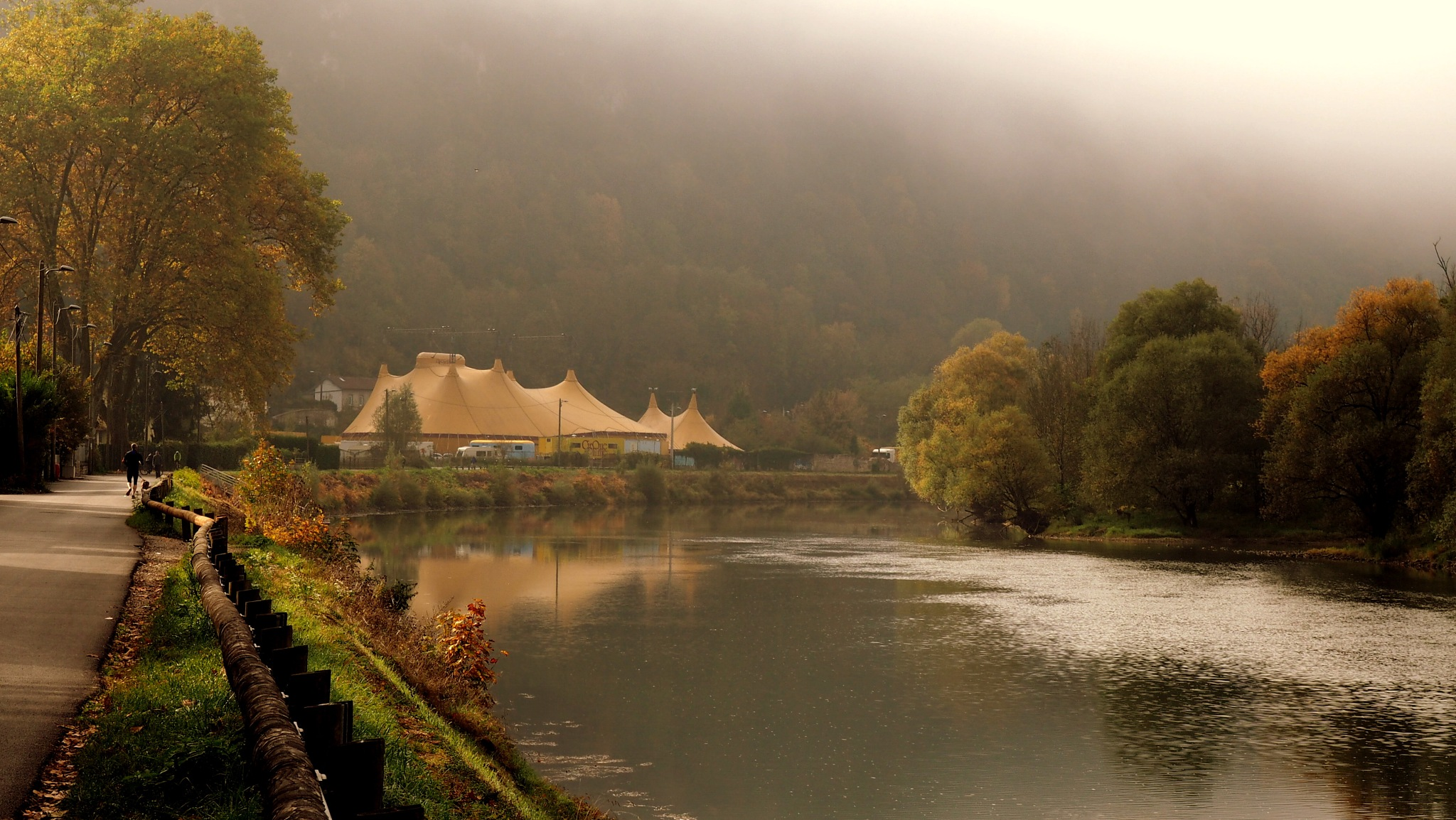 the riverbanks of the Doubs  by alain michel