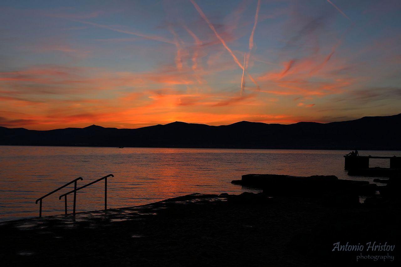 Sunset over the Marjan hill in Split, Croatia by Antonio Hristov