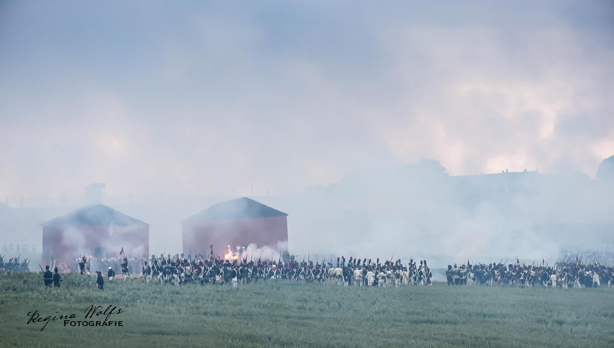the battlefield of Waterloo by Regina Wolfs