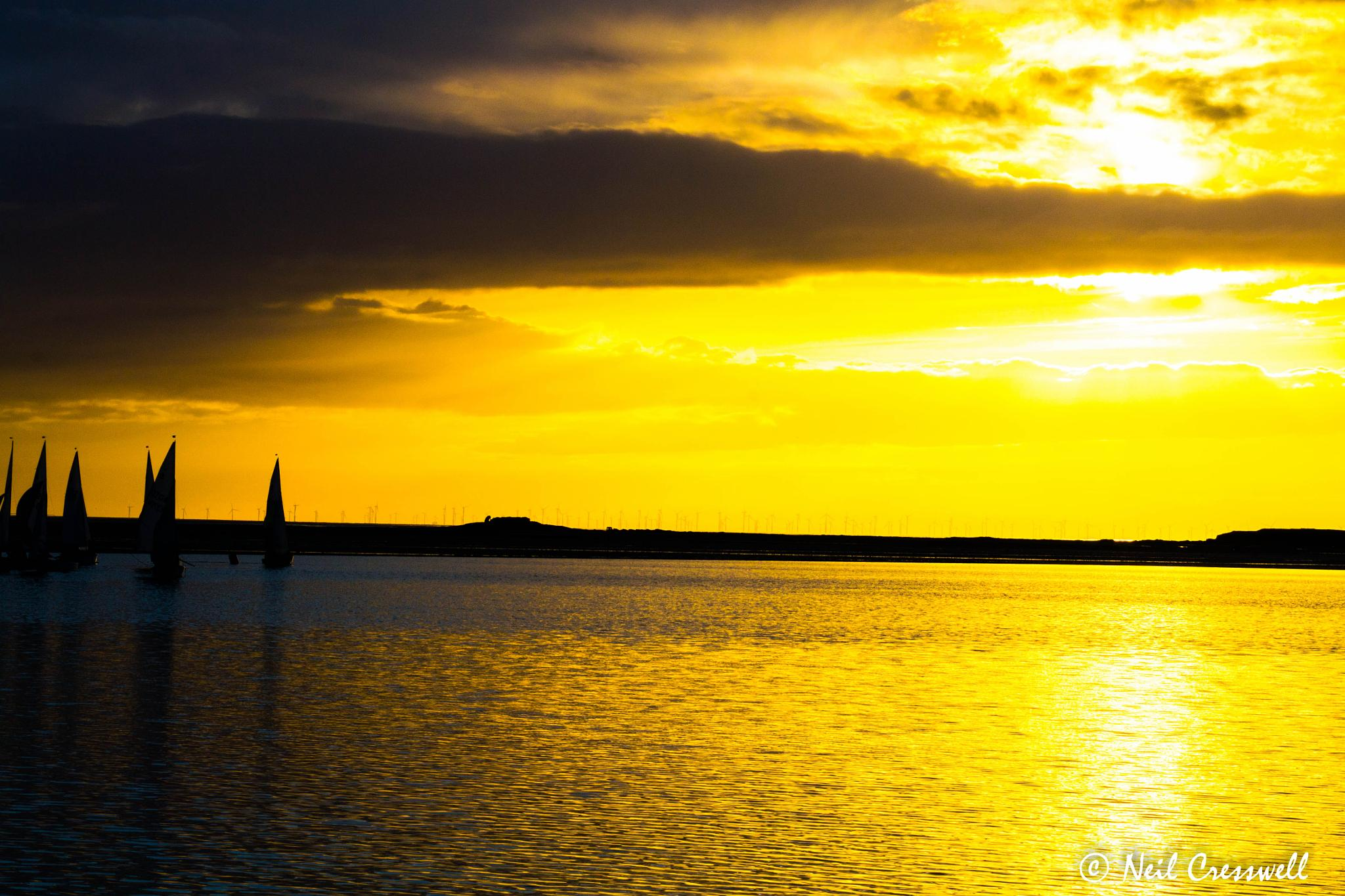 West Kirby sunset by Neil Cresswell