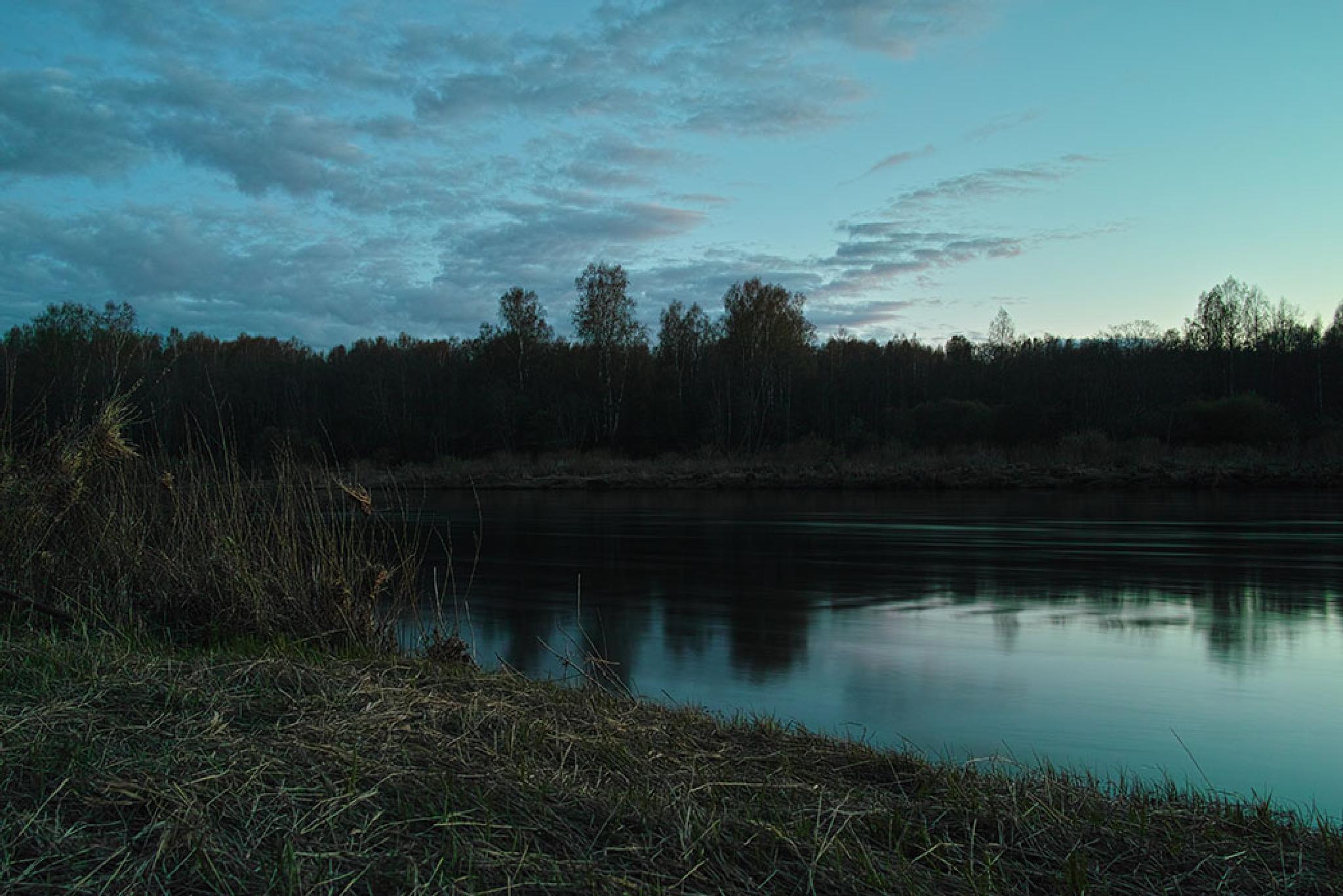 River at night  by sergeytoronto