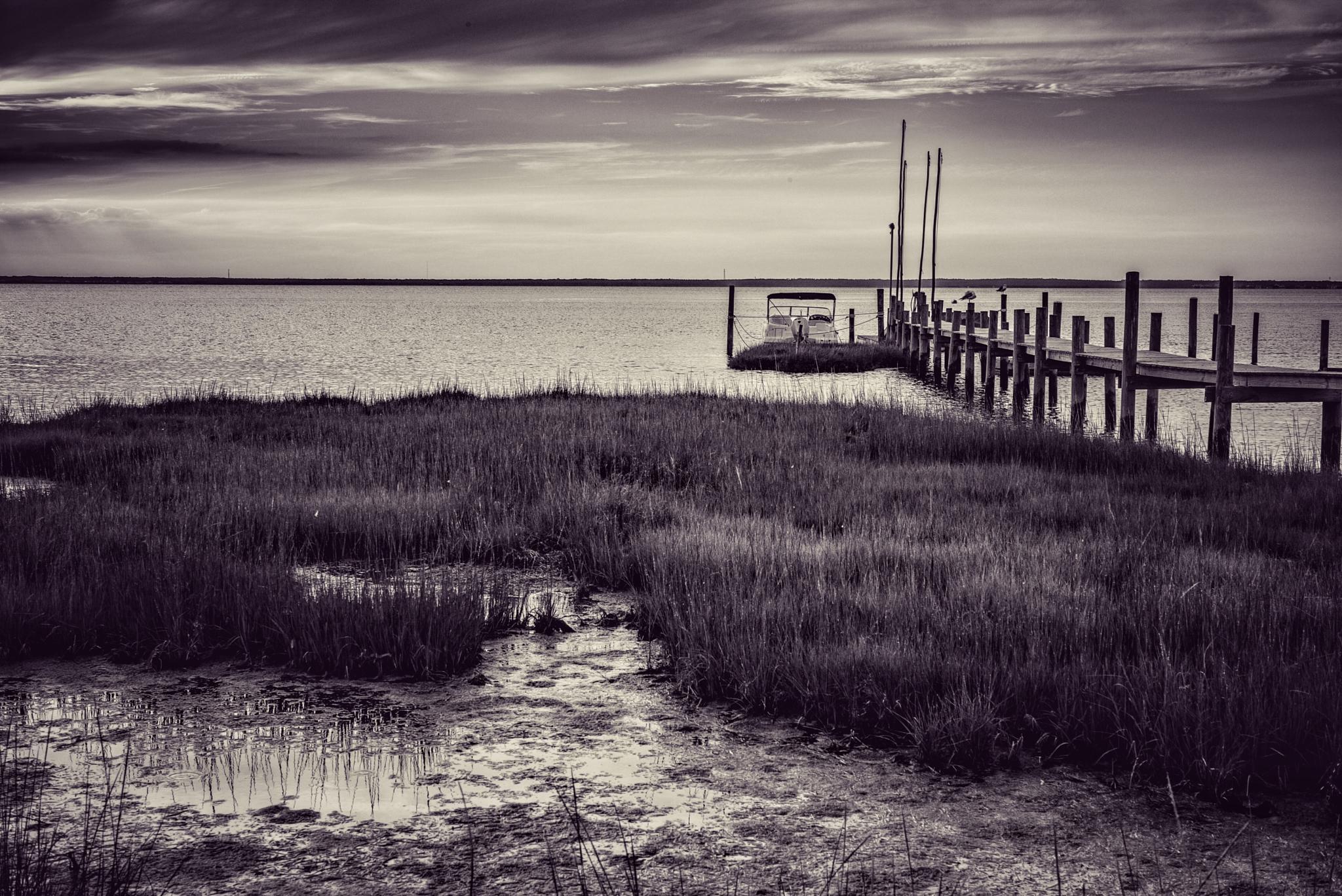 """Pier"", Barnegat Bay, New Jersey 2015 by hbenkel"