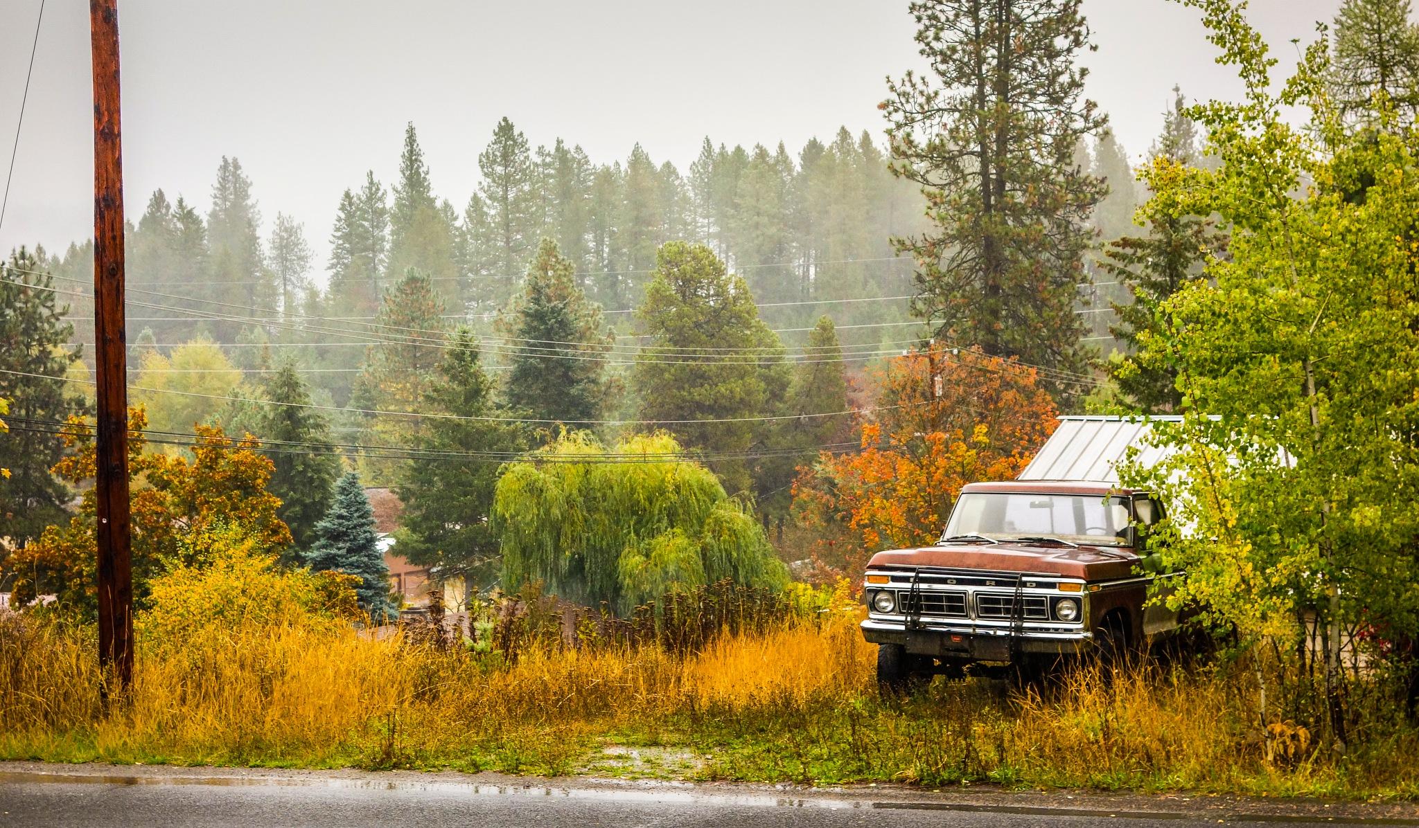 "'Truck and Early Fog"", Newport, Washington by hbenkel"