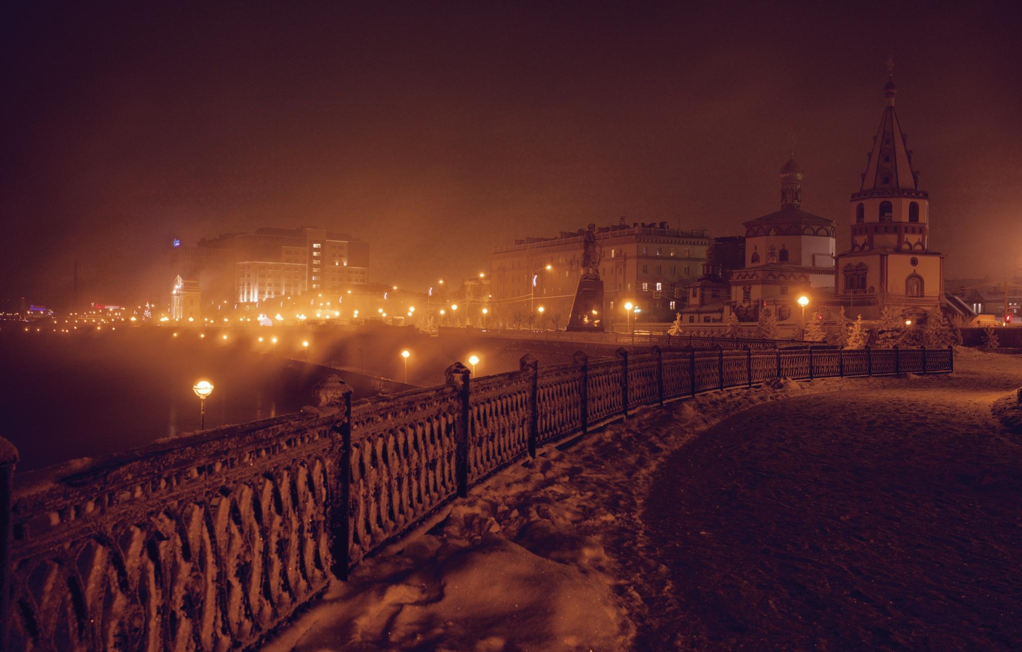 Misty Irkutsk by Boris Konovalov