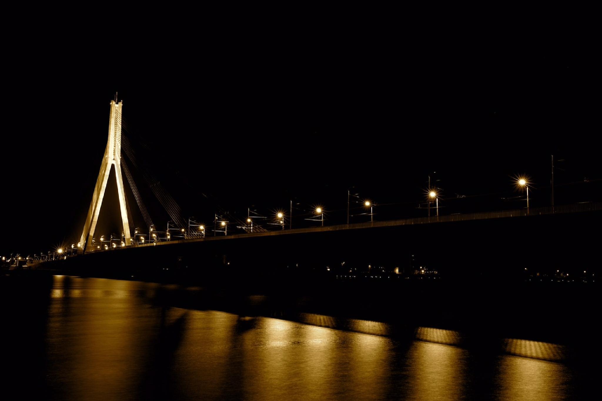 Riga bridge by Boris Konovalov
