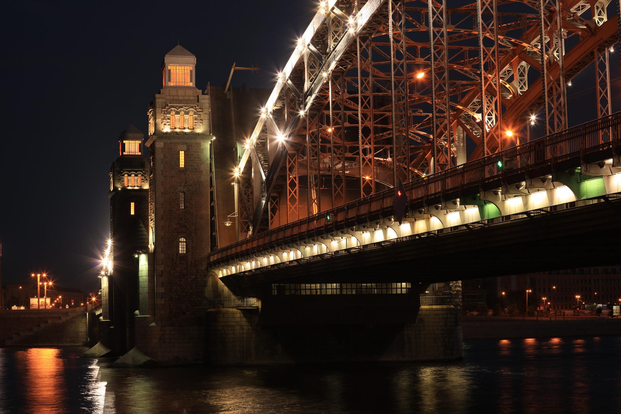 Night bridge by Boris Konovalov