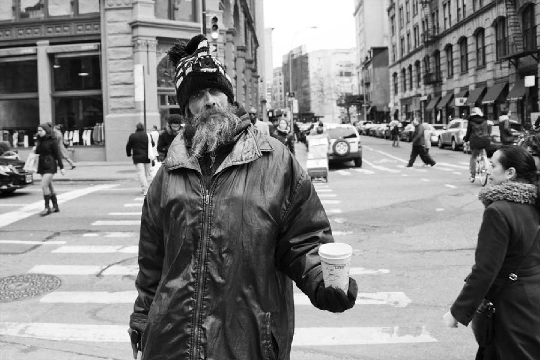 Happy Panhandler by bhlevy