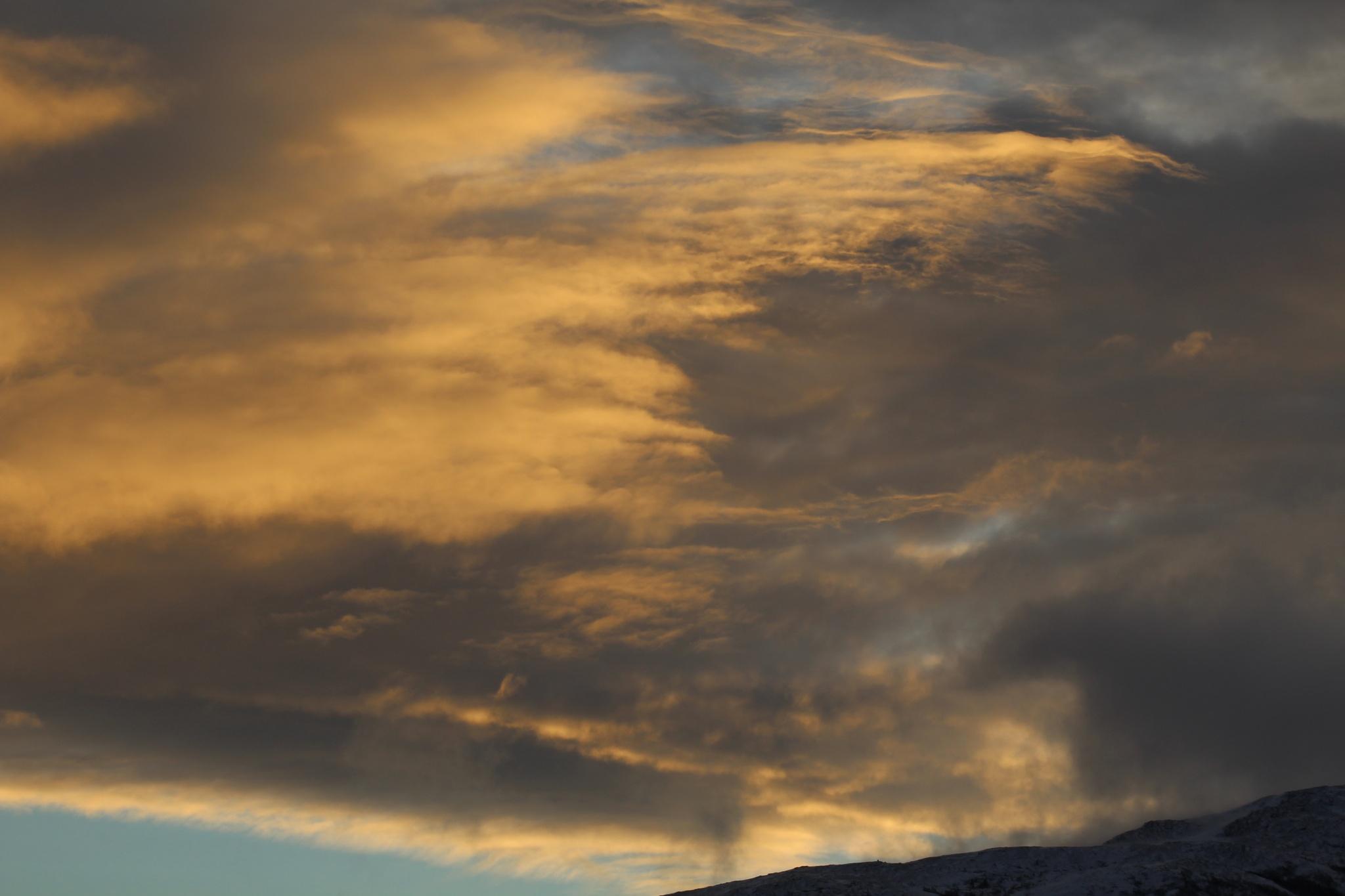 Winter sky in West Norway by Tor Johansen