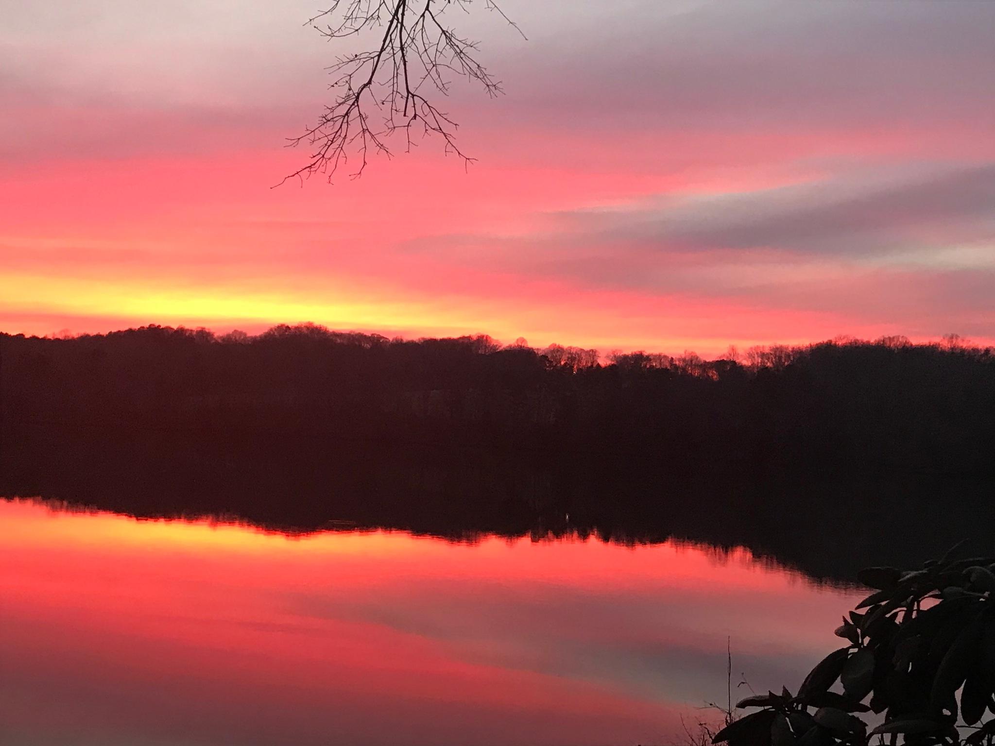 Sunset on Saluda Lake - 3 by Ricardo Jardin