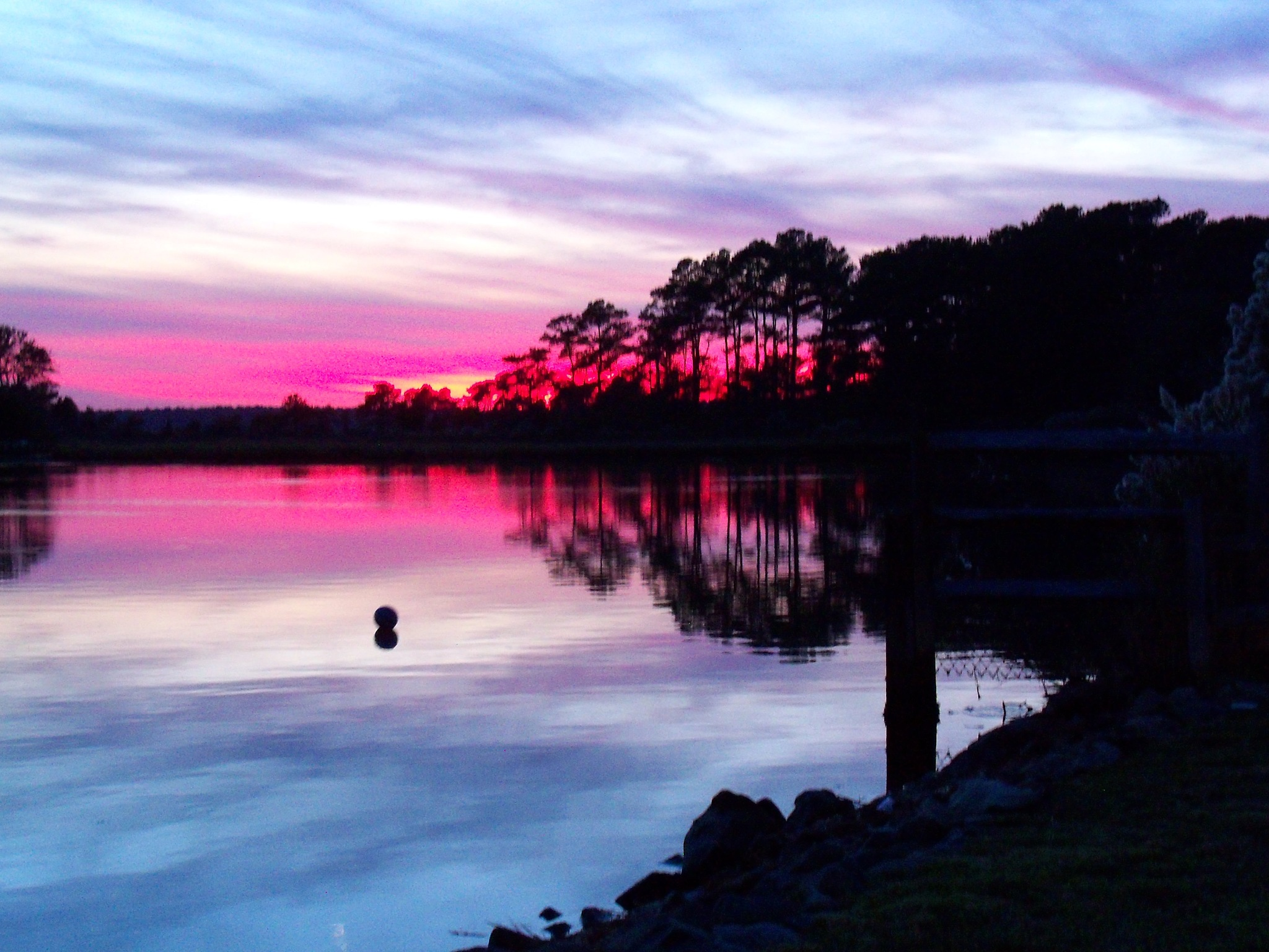 A Fuschia Sunset on the Bay by Pam Jenkins
