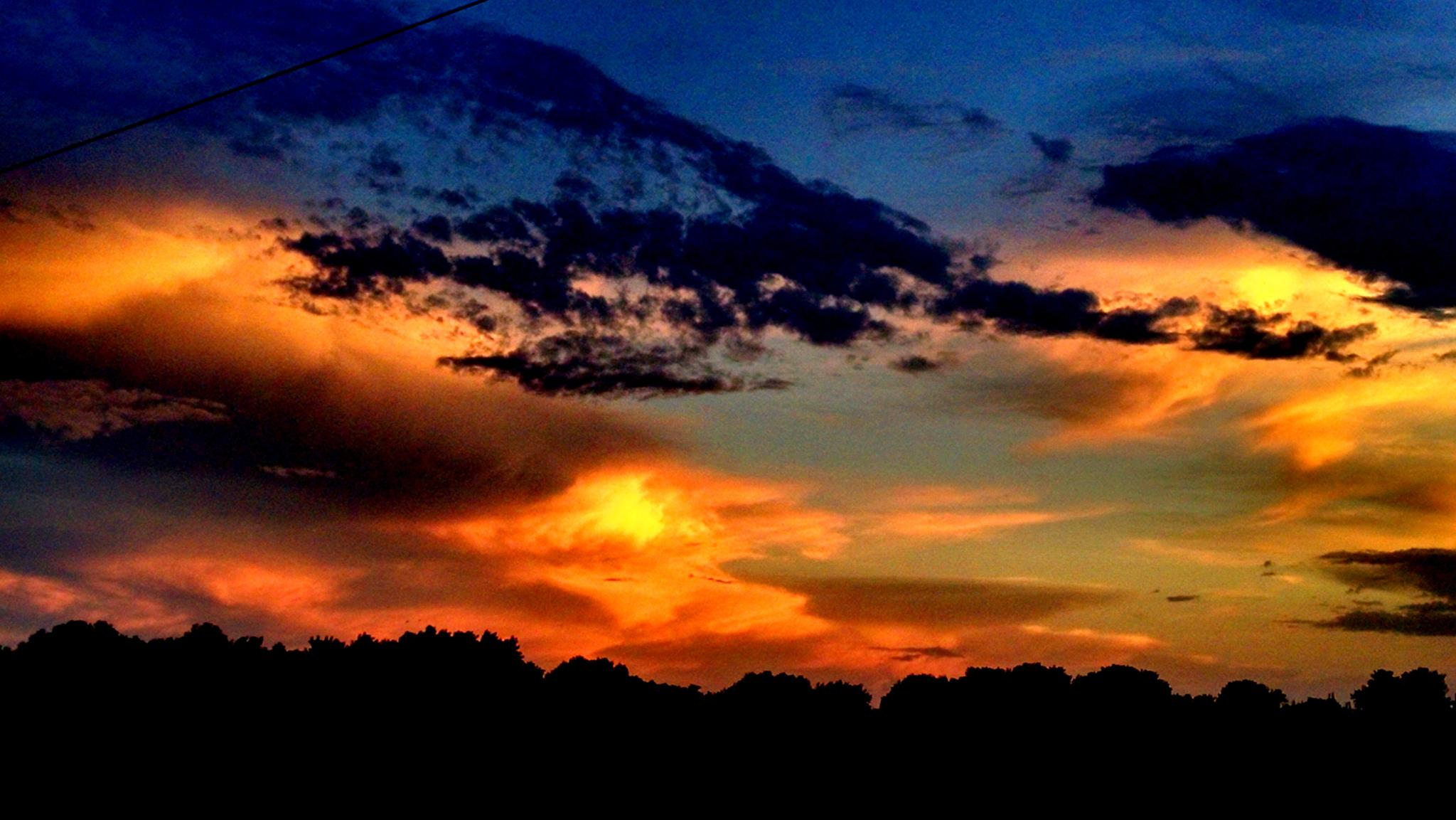 Tonight's sunset by Dusty Hast