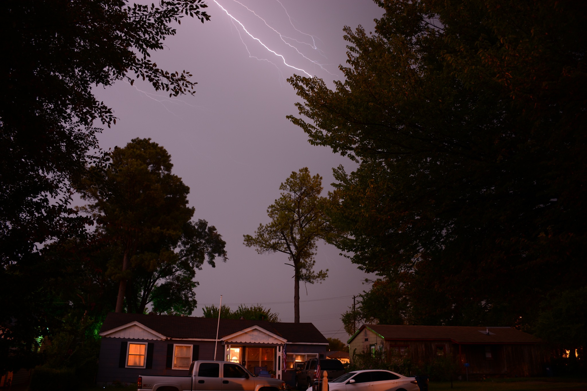 Lightning in the trees by roughneck1-9