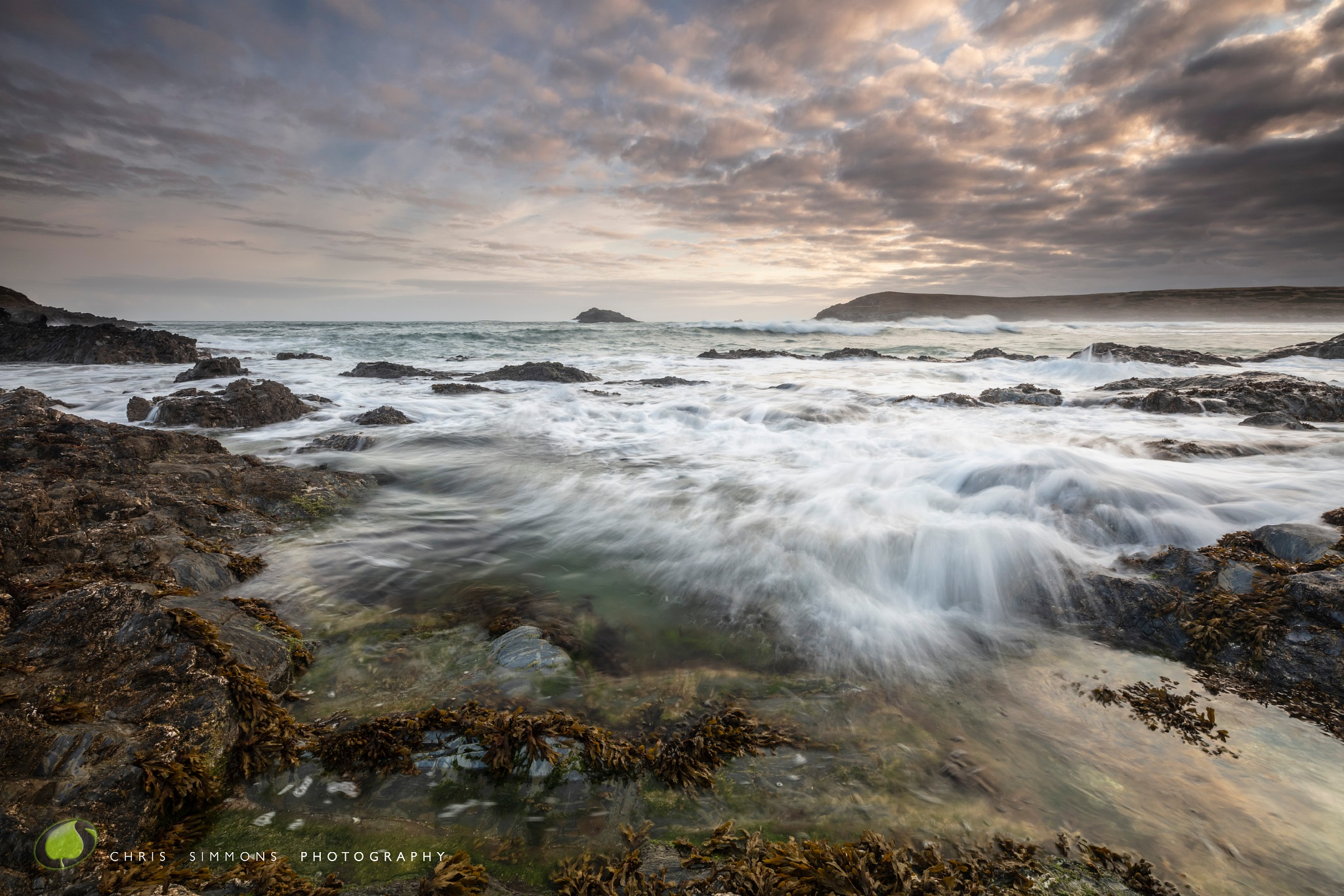 Dawn Swell - Rockpool by Chris Simmons Photography