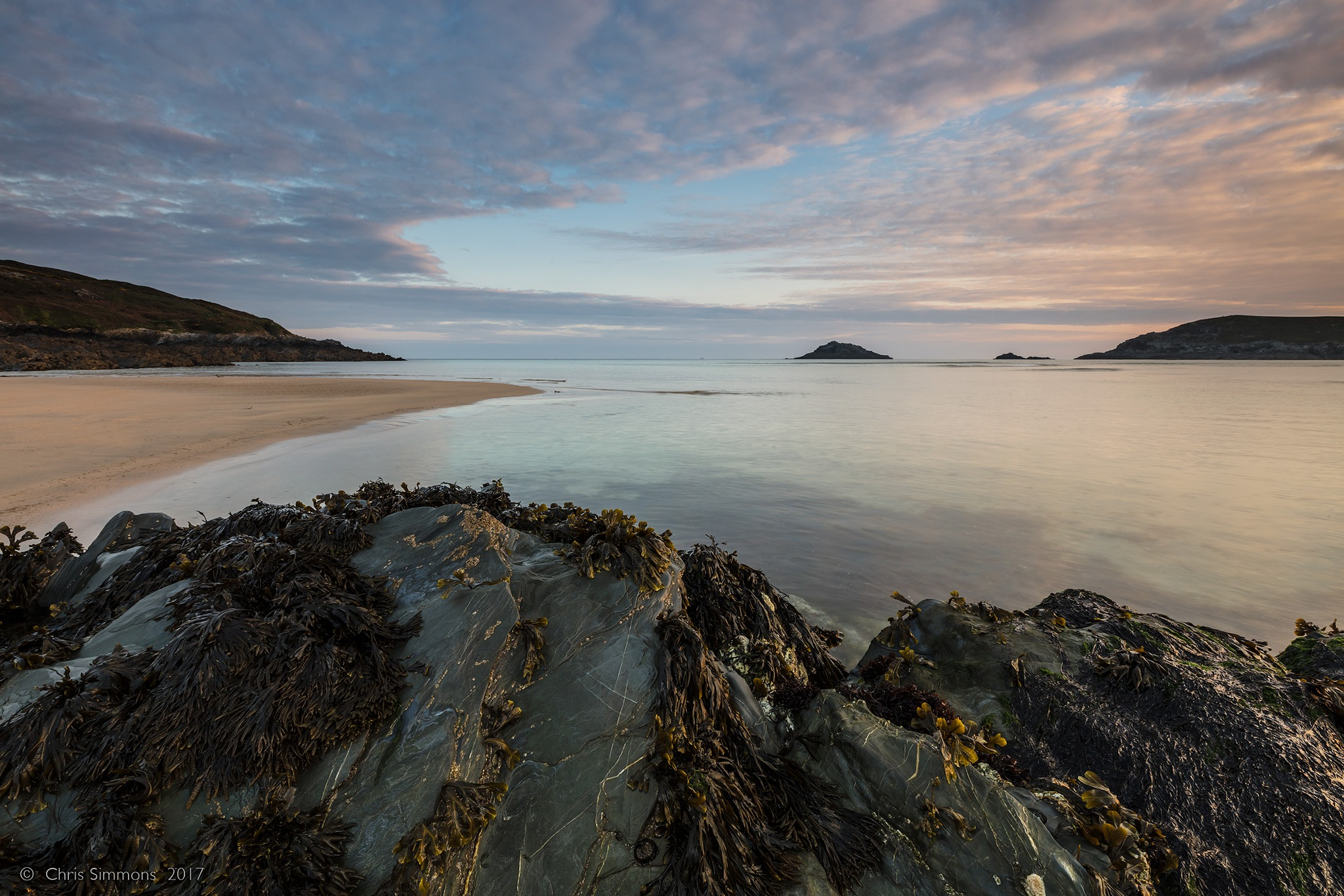 Crantock Rocks & Dappled Dawning by Chris Simmons Photography