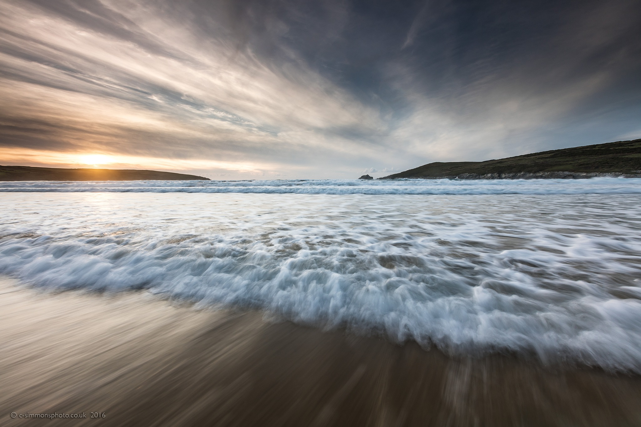 Coppered Crantock Waves by Chris Simmons Photography