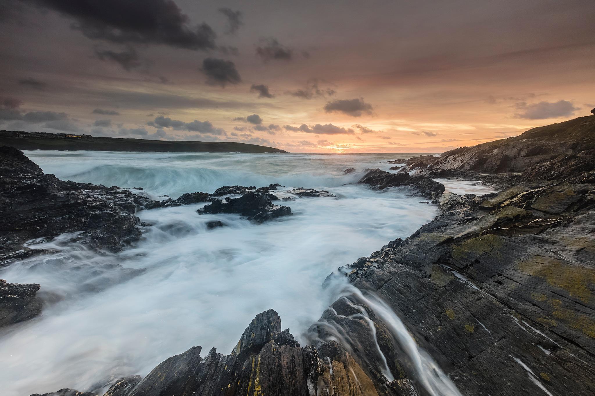 Crantock Ledge Sundown by Chris Simmons Photography