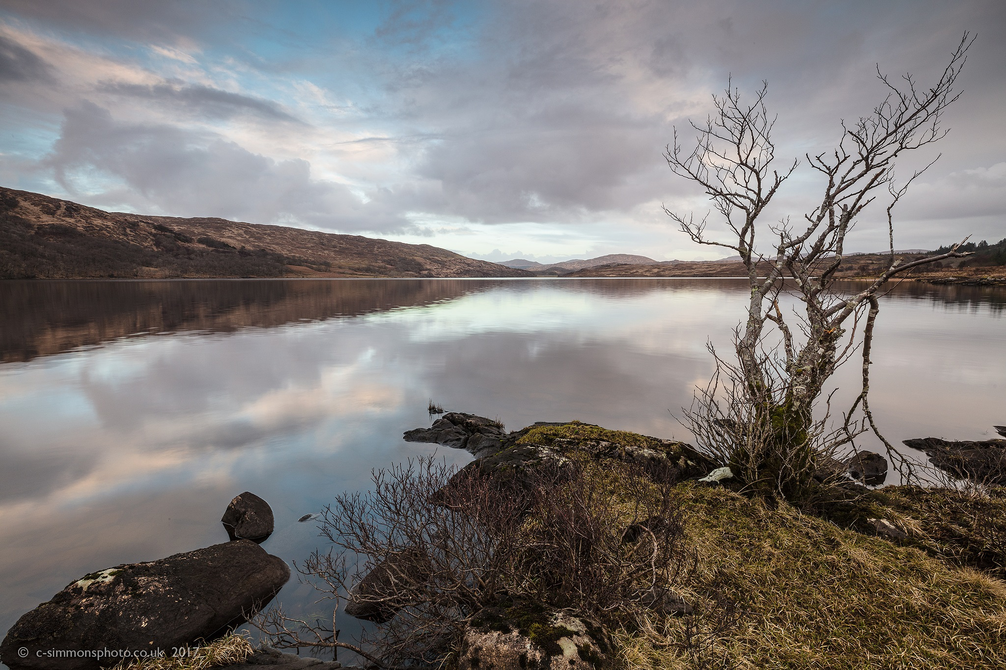 Loch Arienas  Dusking by Chris Simmons Photography