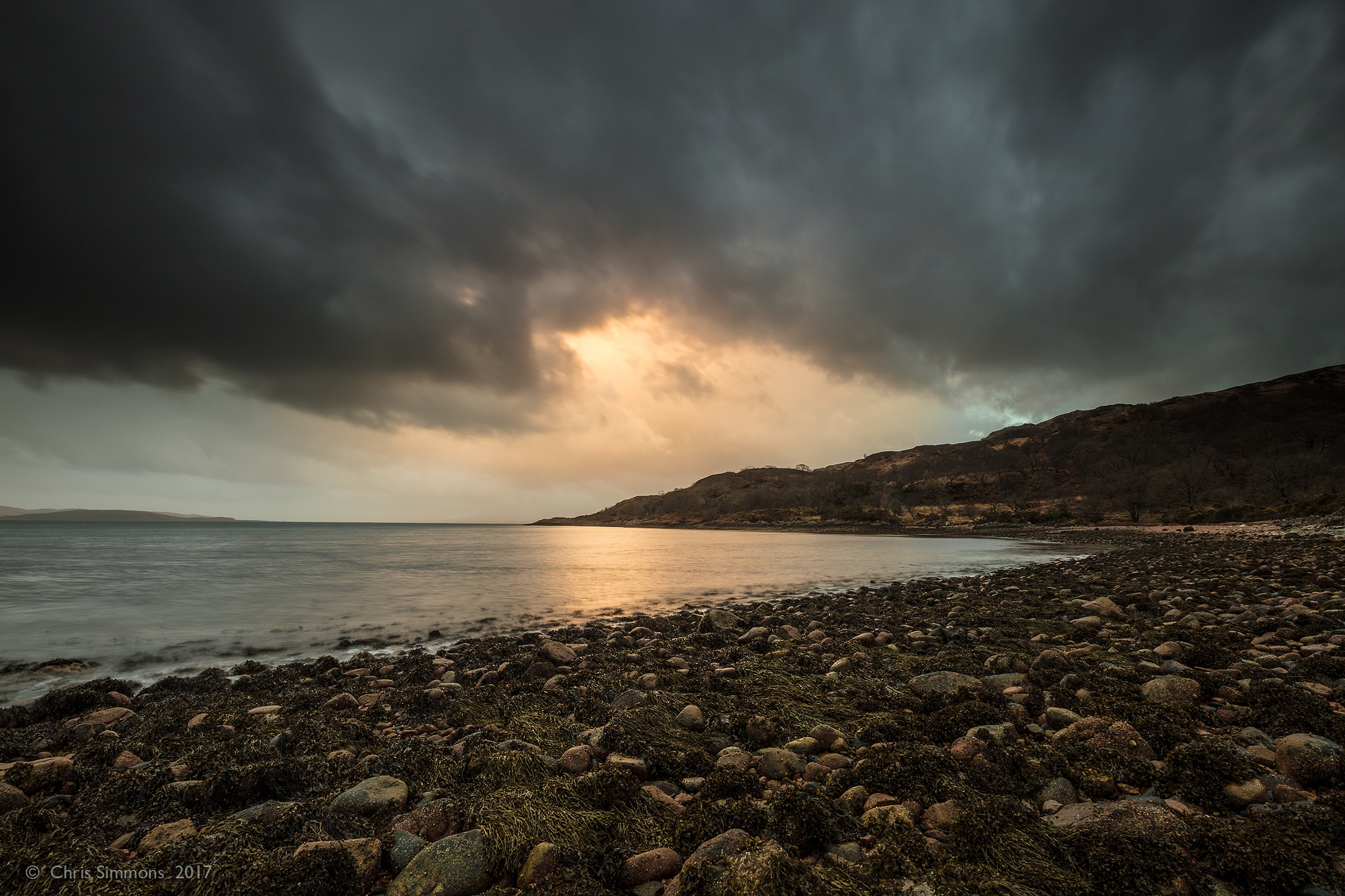 Eigneig Bay Sombre Mood by Chris Simmons Photography
