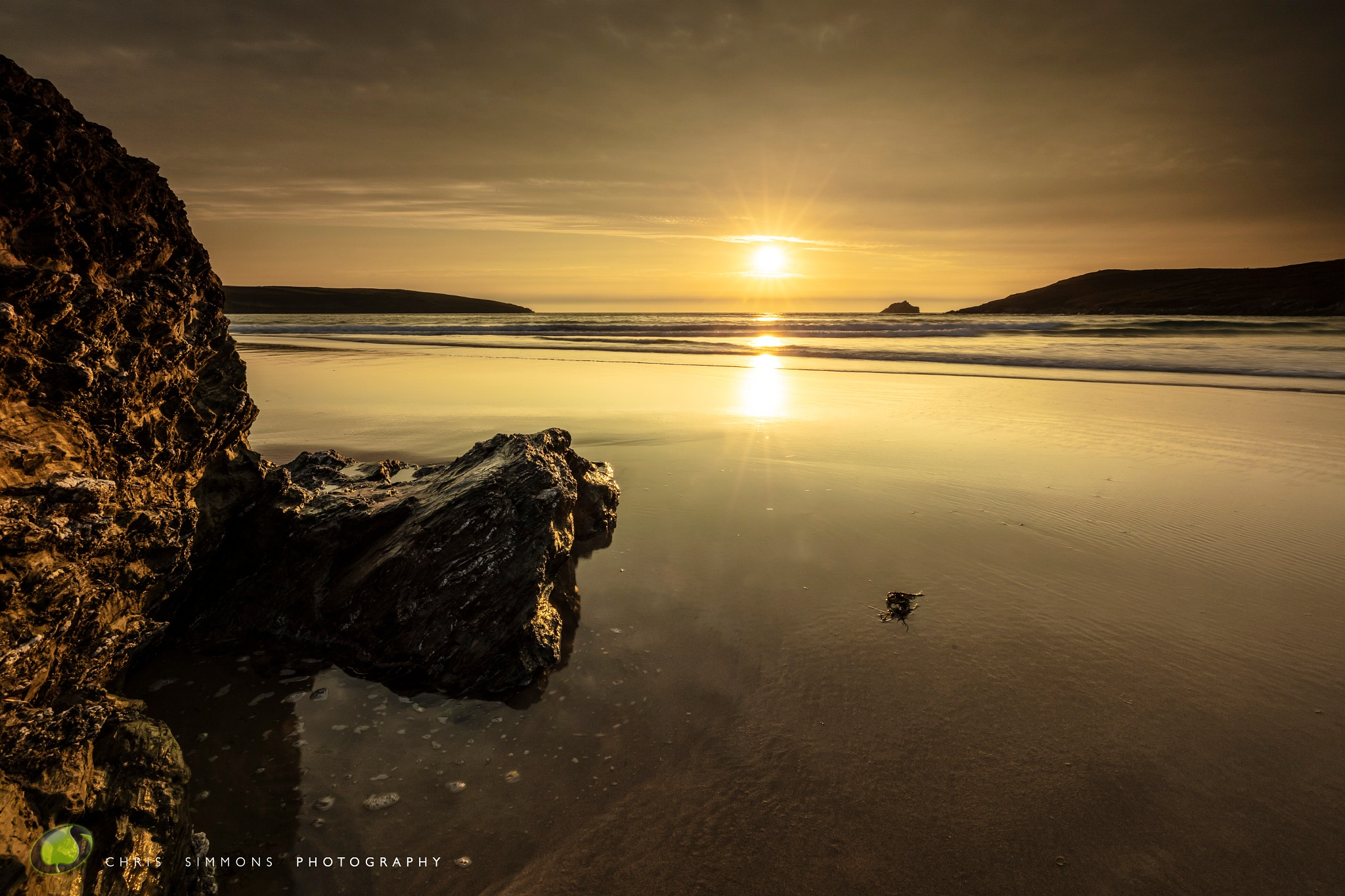 High Tide Sundown III by Chris Simmons Photography