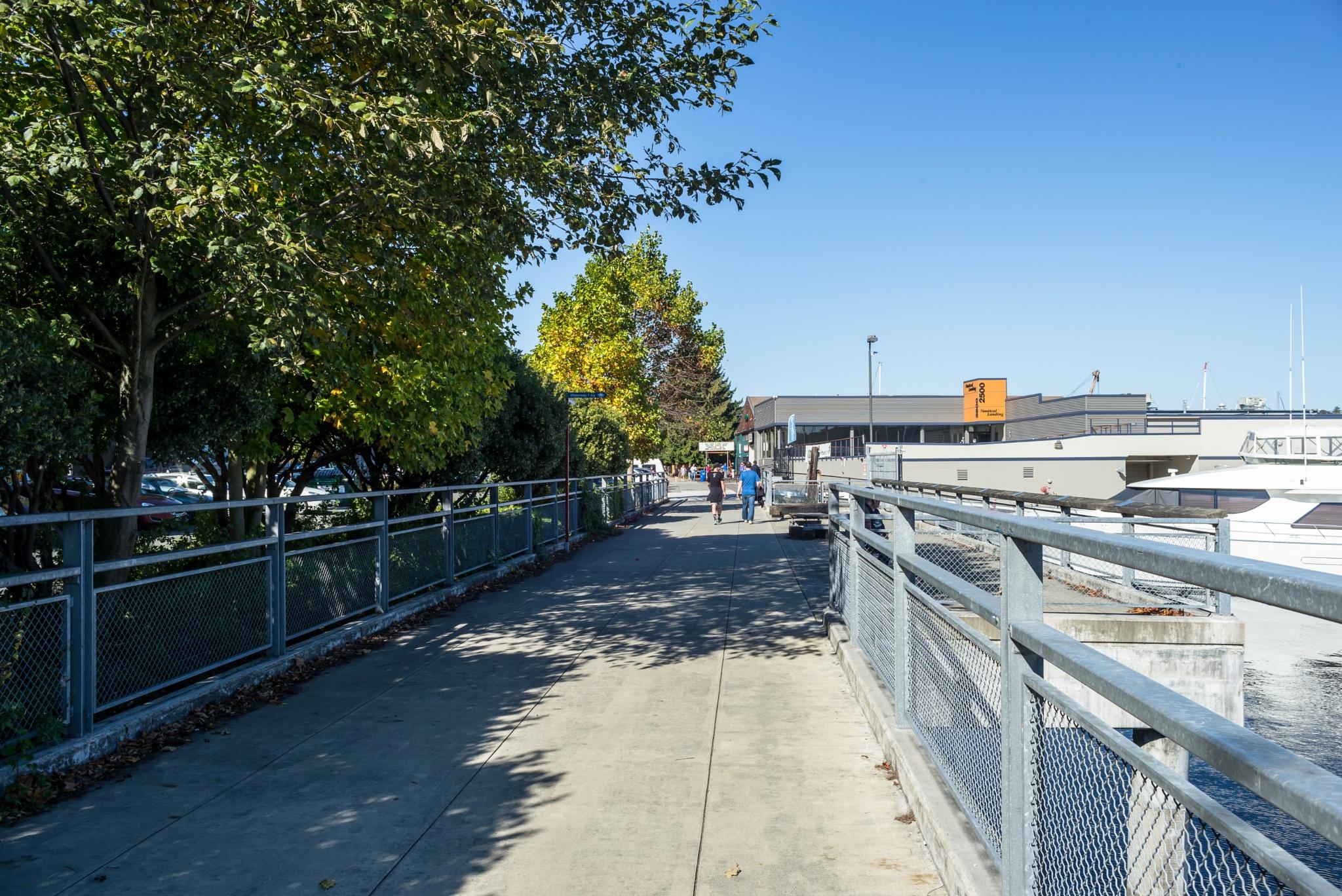 Walking along Lake Union - Seattle by Stephen C. Benine