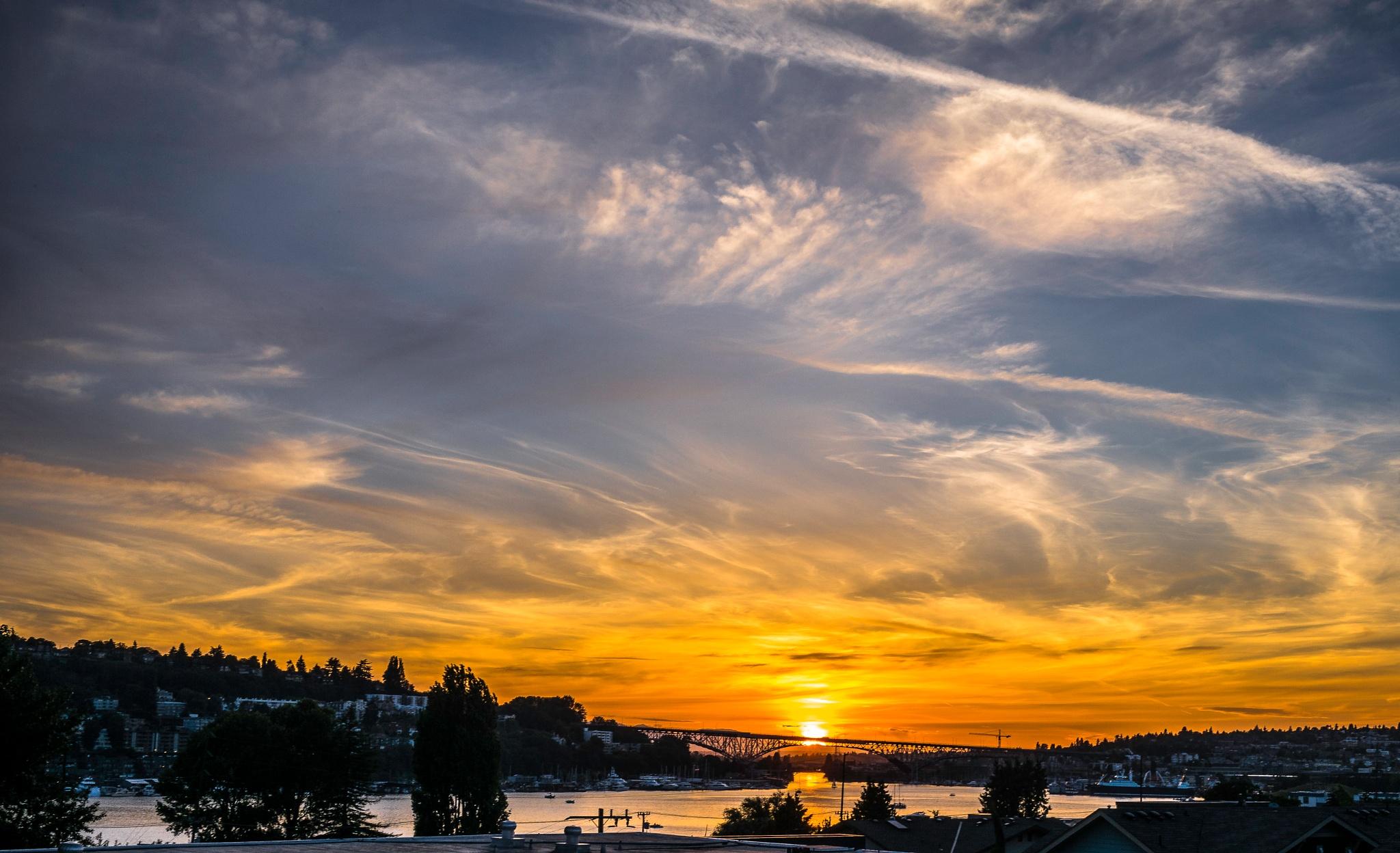 Summer Sunset by Stephen C. Benine