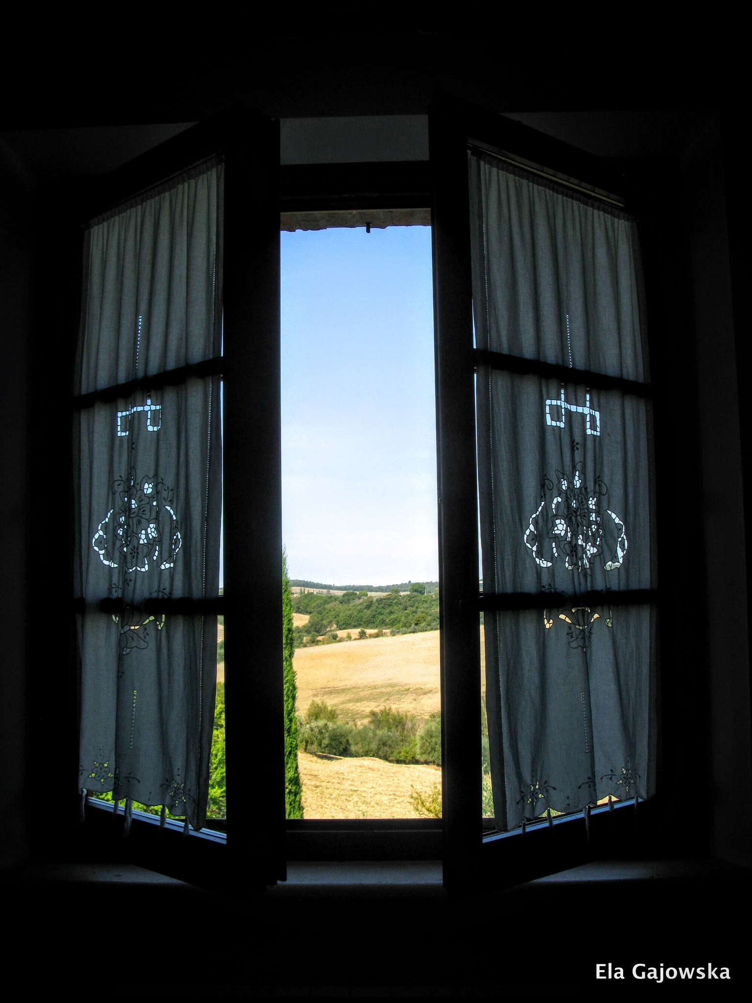 The window in my Tuscan bedroom by Ela Gajowska