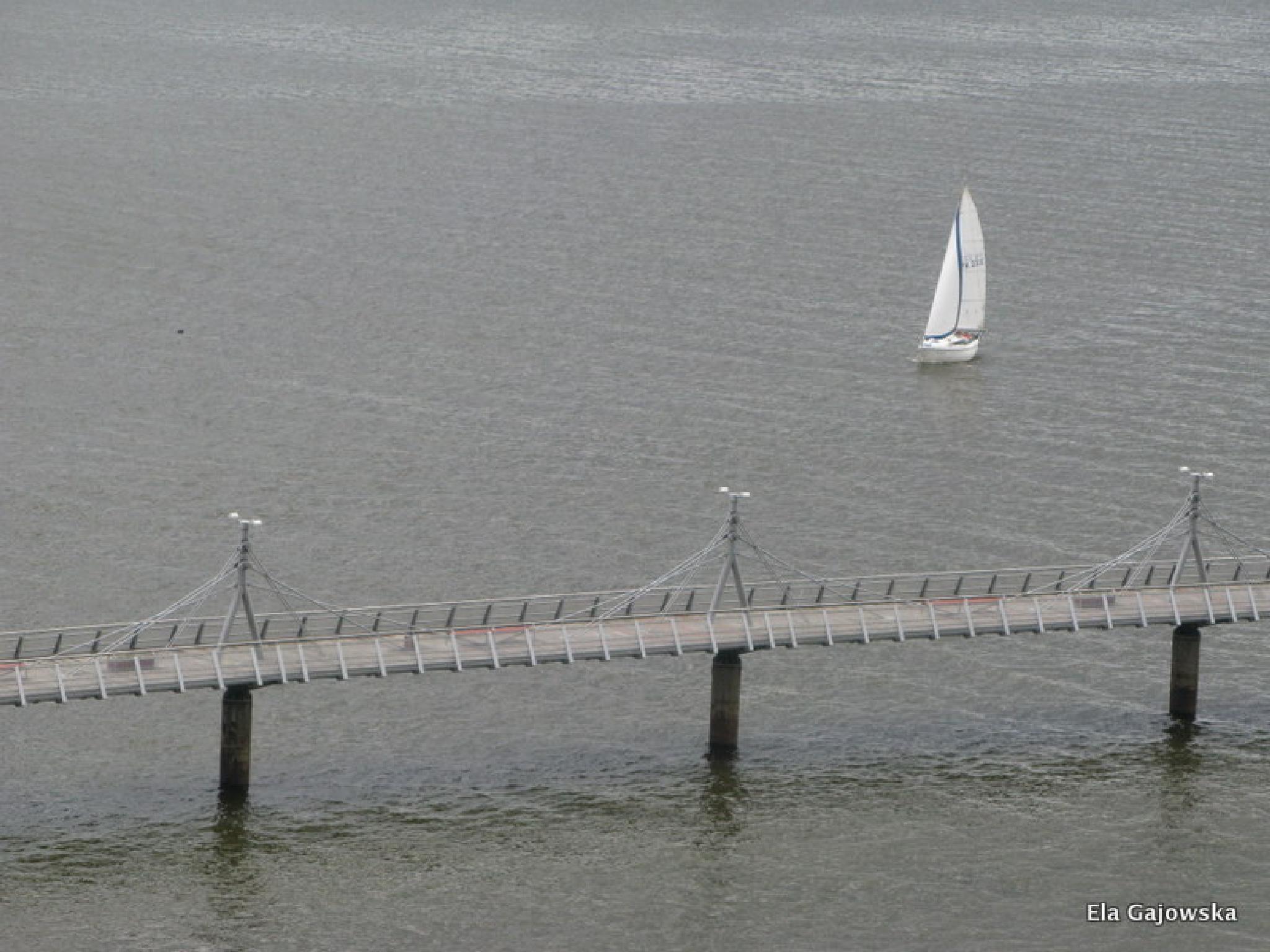 A grey day on the Vistula river 2 by Ela Gajowska