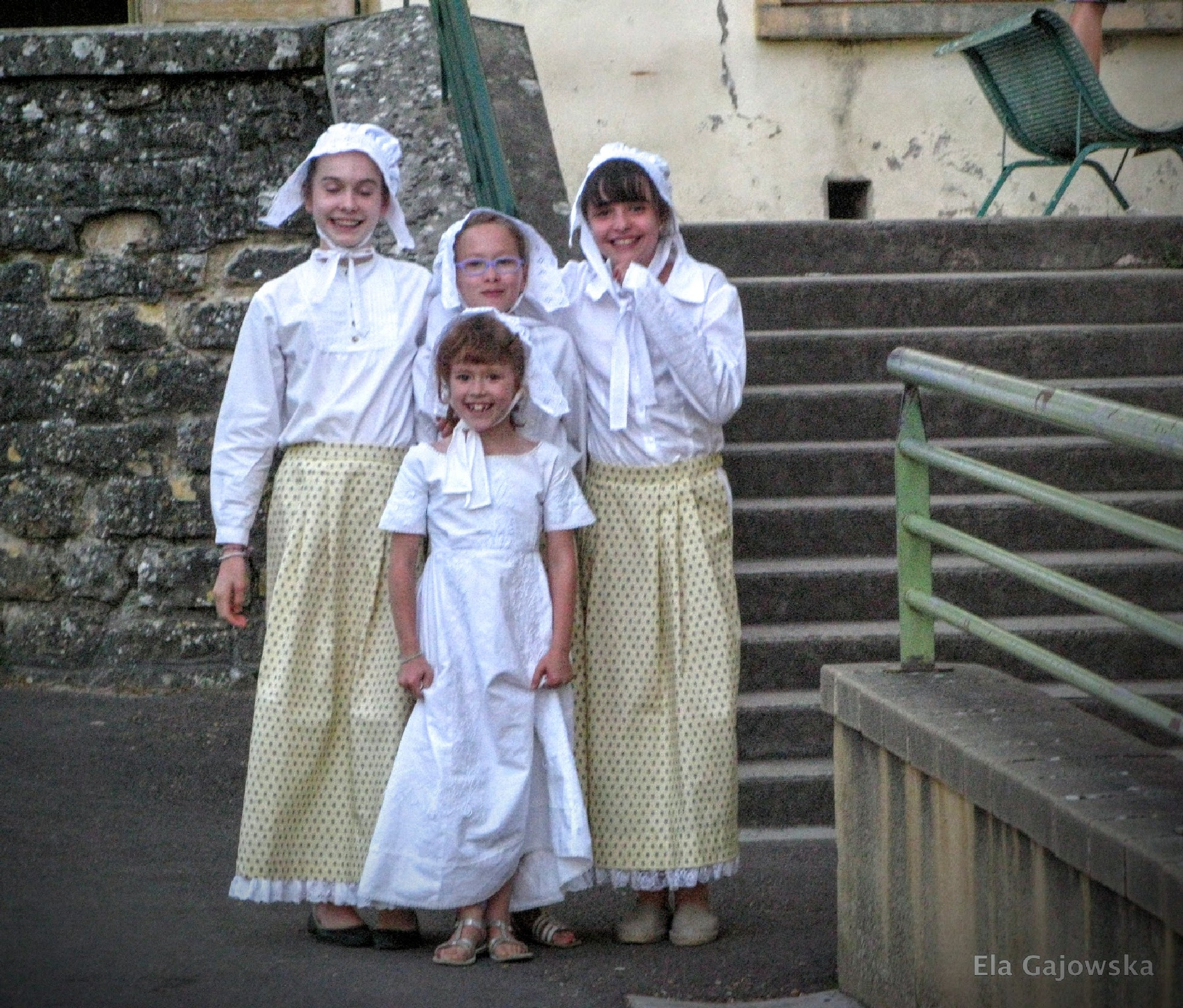 Girls dressed up during a local festival by Ela Gajowska