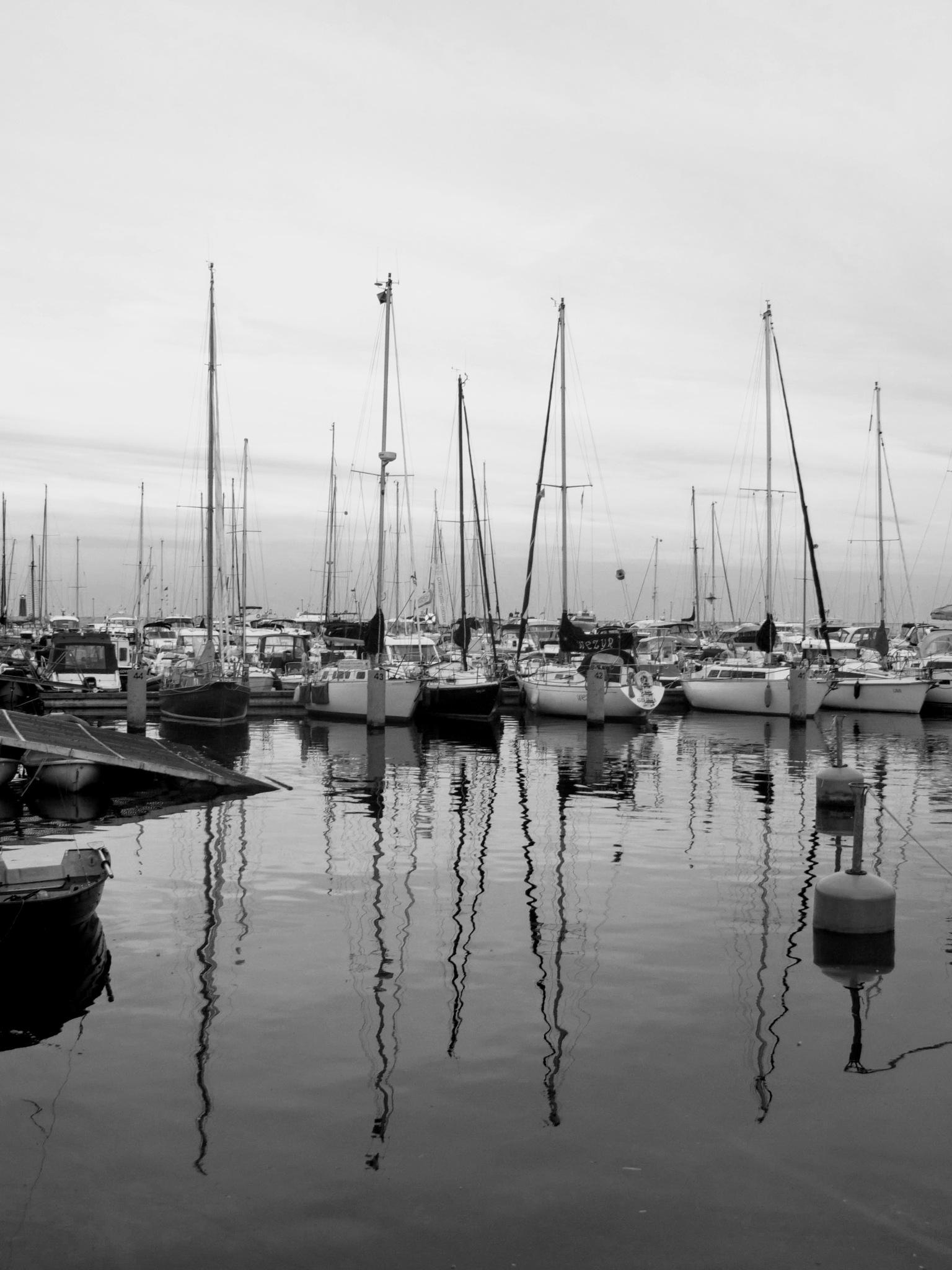 A marina in the evening by Ela Gajowska